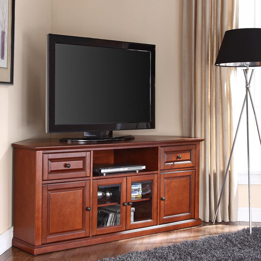 Well Known Wayfair Corner Tv Stands Within Amazon: Crosley Furniture 60 Inch Corner Tv Stand – Classic (View 19 of 20)