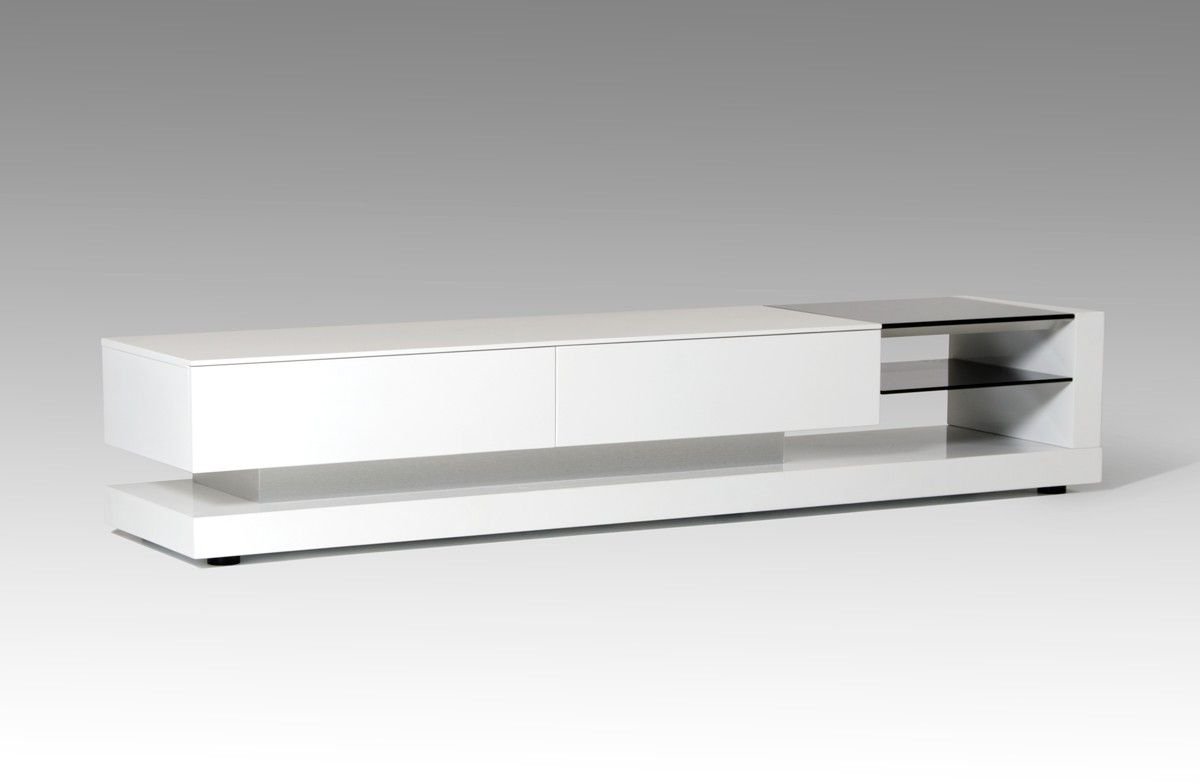 Well Known White Contemporary Tv Stands Inside White Tv Stand And Long Tv Stand Also Modern Tv Stands Made Of Glass (View 14 of 20)