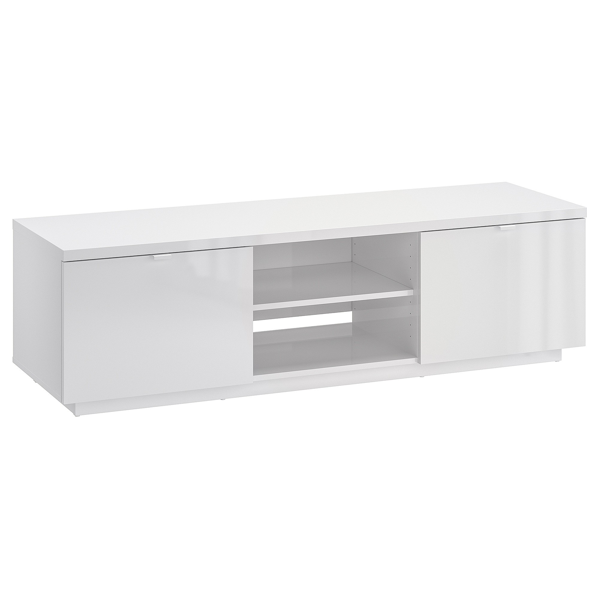 Well Known White Gloss Tv Benches Inside Byås Tv Bench High Gloss White 160 X 42 X 45 Cm – Ikea (View 16 of 20)