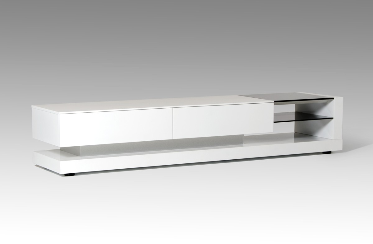 Well Known White Modern Tv Stands Pertaining To Modrest Mali Modern White Tv Stand (View 3 of 20)