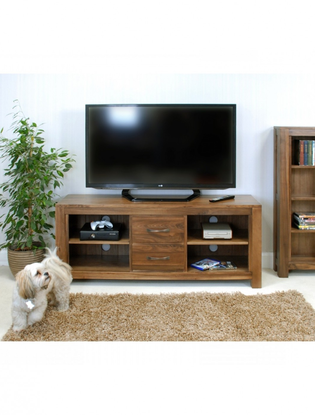 Well Known Widescreen Tv Stands Pertaining To Widescreen Tv Stand Baumhaus Mayan Walnut Cwc09B (View 15 of 20)