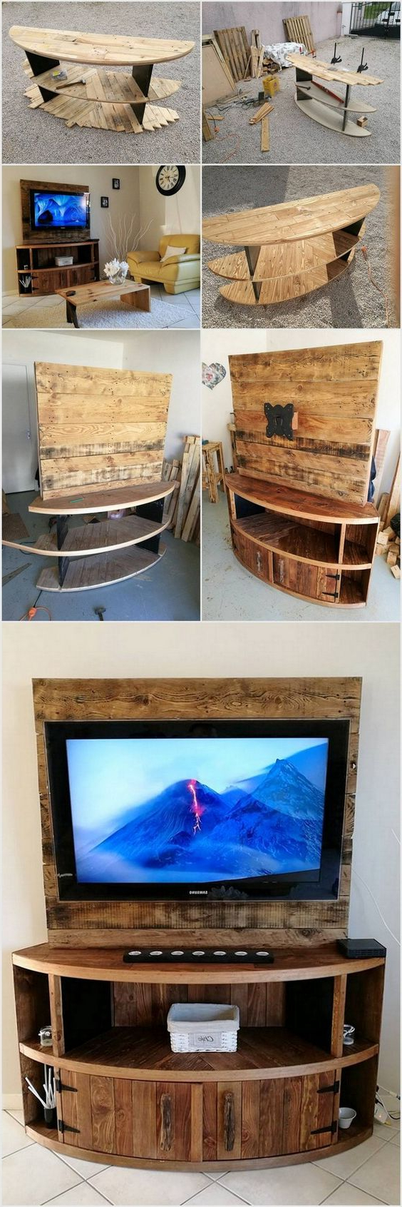 Well Known Wooden Tv Stand With Wheels With Regard To 21+ Diy Tv Stand Ideas For Your Weekend Home Project (View 14 of 20)