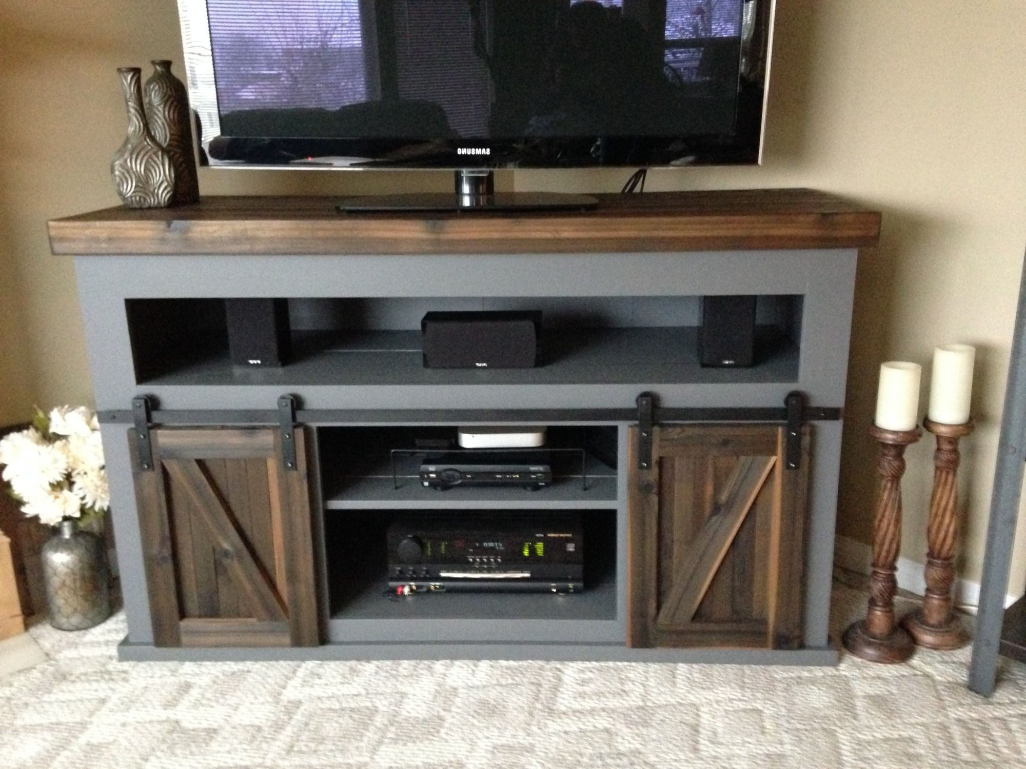 Well Known Wooden Tv Stands And Cabinets Regarding Bedroom Dark Wood Tv Cabinet With Doors Corner Television Stands And (View 15 of 20)