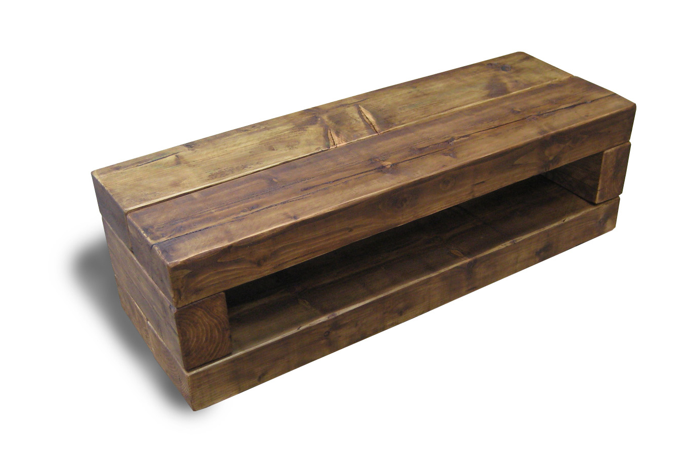 Well Known Wooden Tv Stands Pertaining To Chunky Stretch Tv Stand – The Cool Wood Company (View 13 of 20)