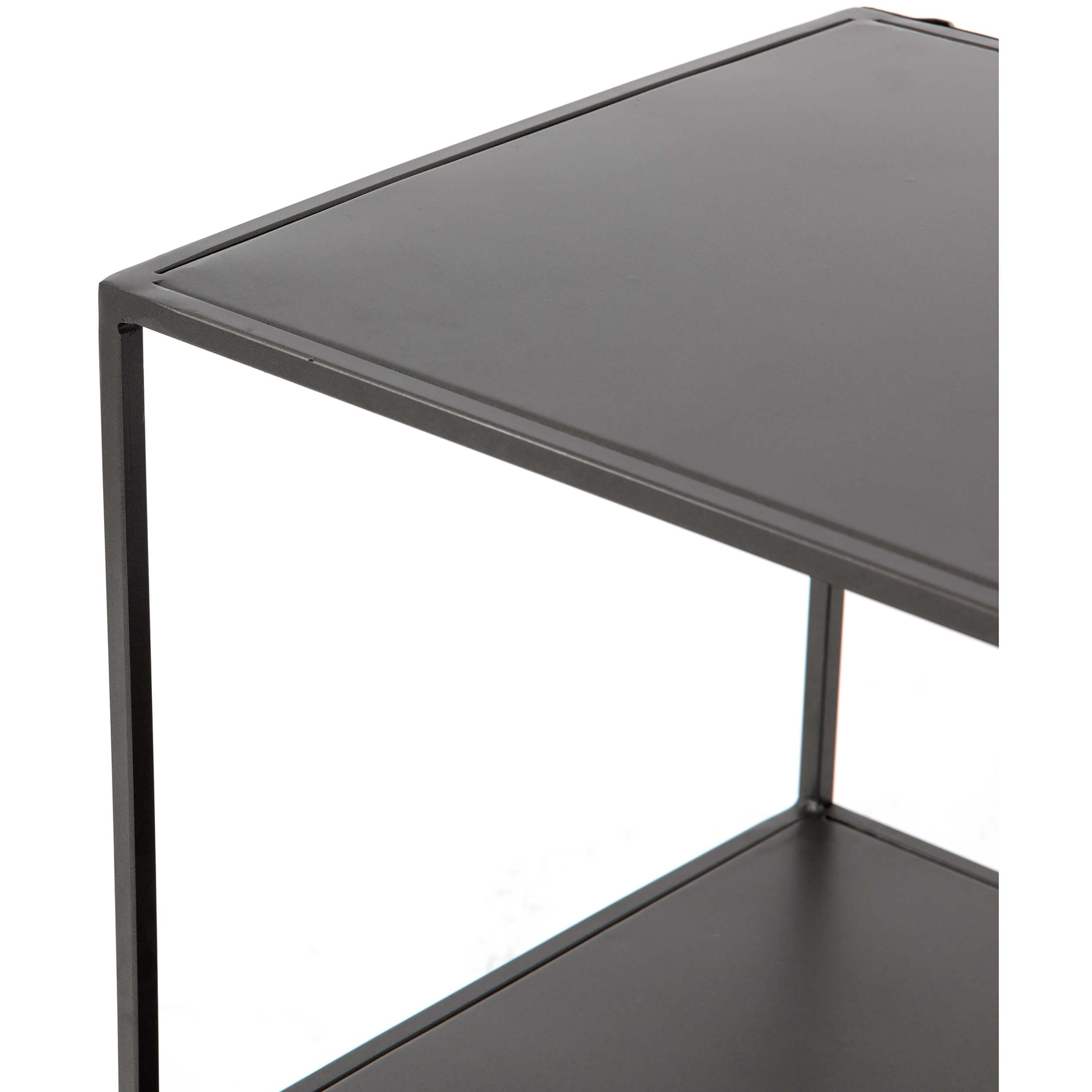 Well Known Zadie Media Console – Media – Storage – Furniture In Gunmetal Perforated Brass Media Console Tables (View 14 of 20)