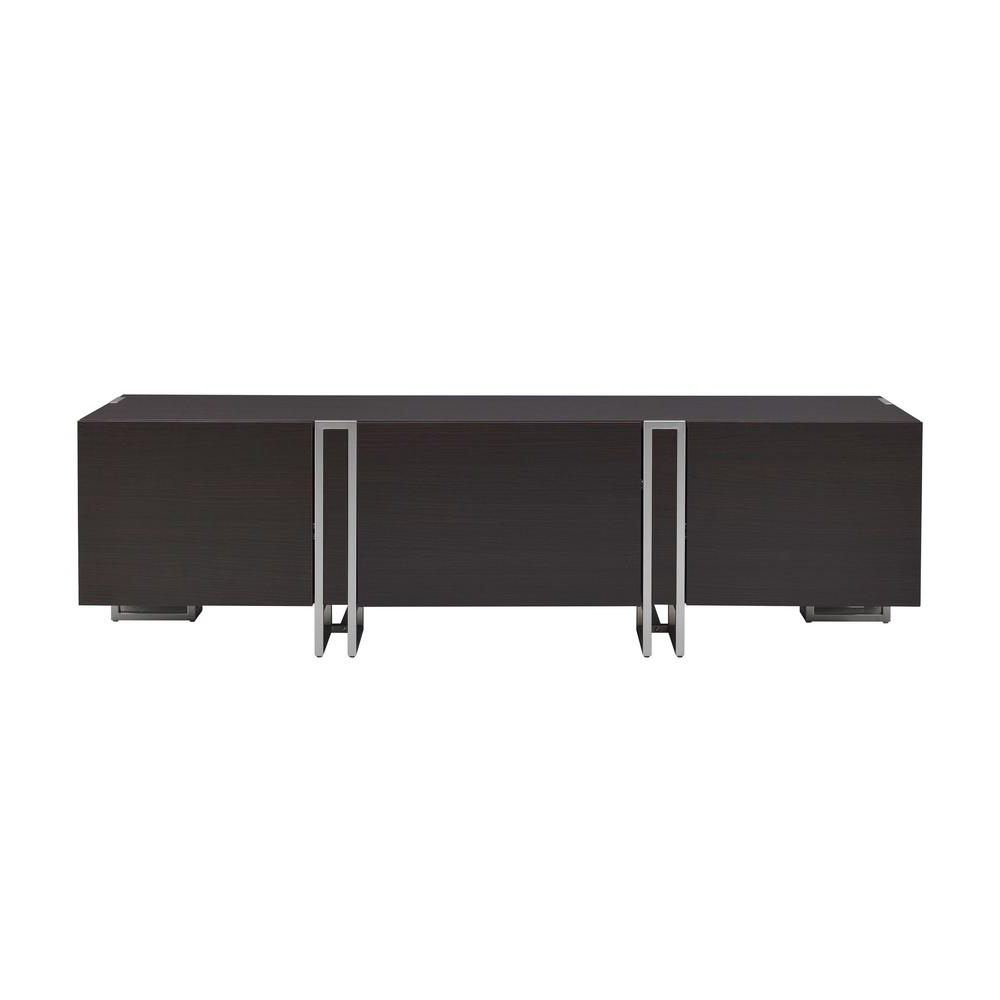 Well Liked Acme Furniture Cattoes Nickel And Walnut Tv Stand 91795 – The Home Depot For Walnut Tv Stands (View 19 of 20)