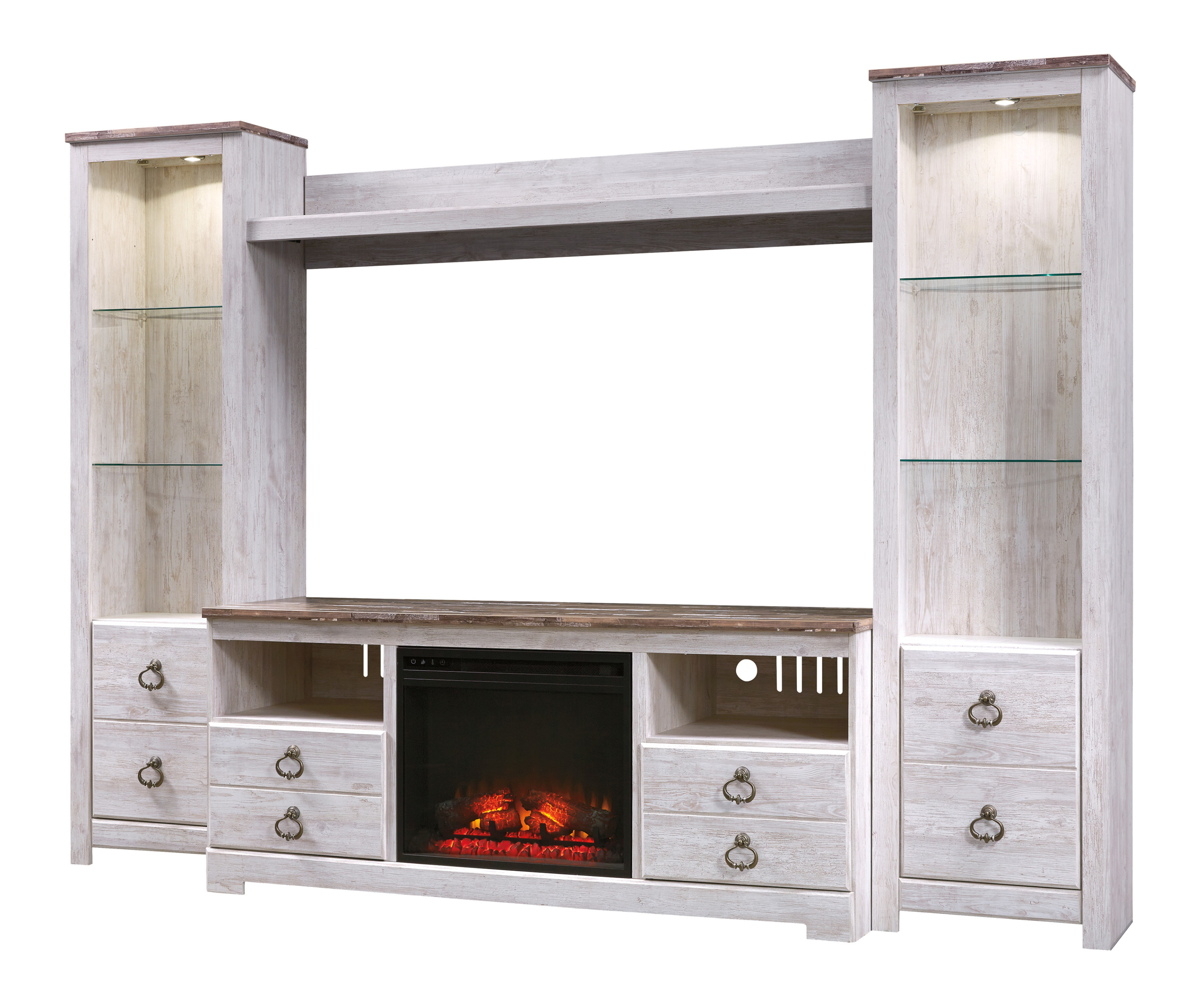 Well Liked Ashley Signature Willowton W267 Tv Stand / Wall Unit In Tv Stand Wall Units (View 18 of 20)