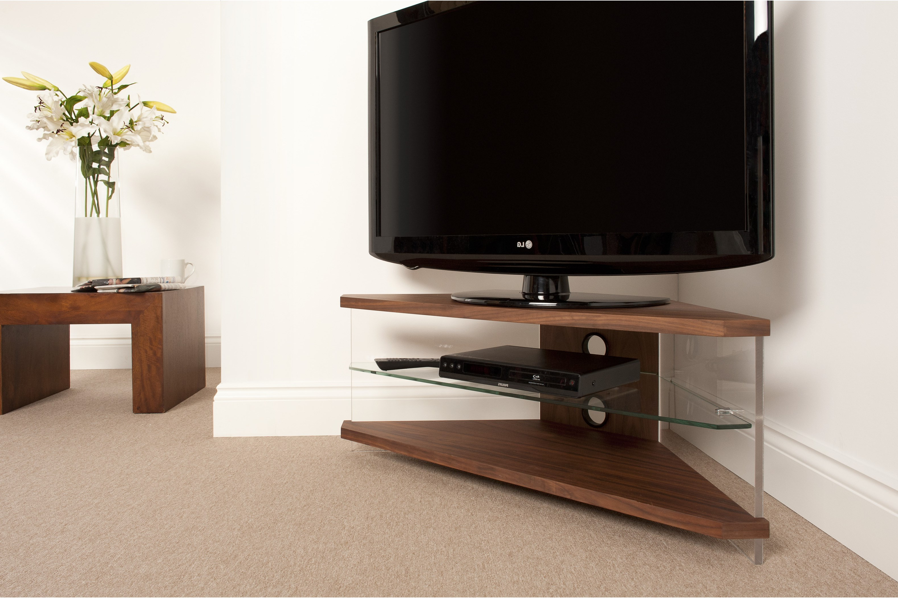 Well Liked Big Tv Stand Wood Lots Furniture Stands With Fireplace Wooden Regarding Corner Tv Tables Stands (View 15 of 20)
