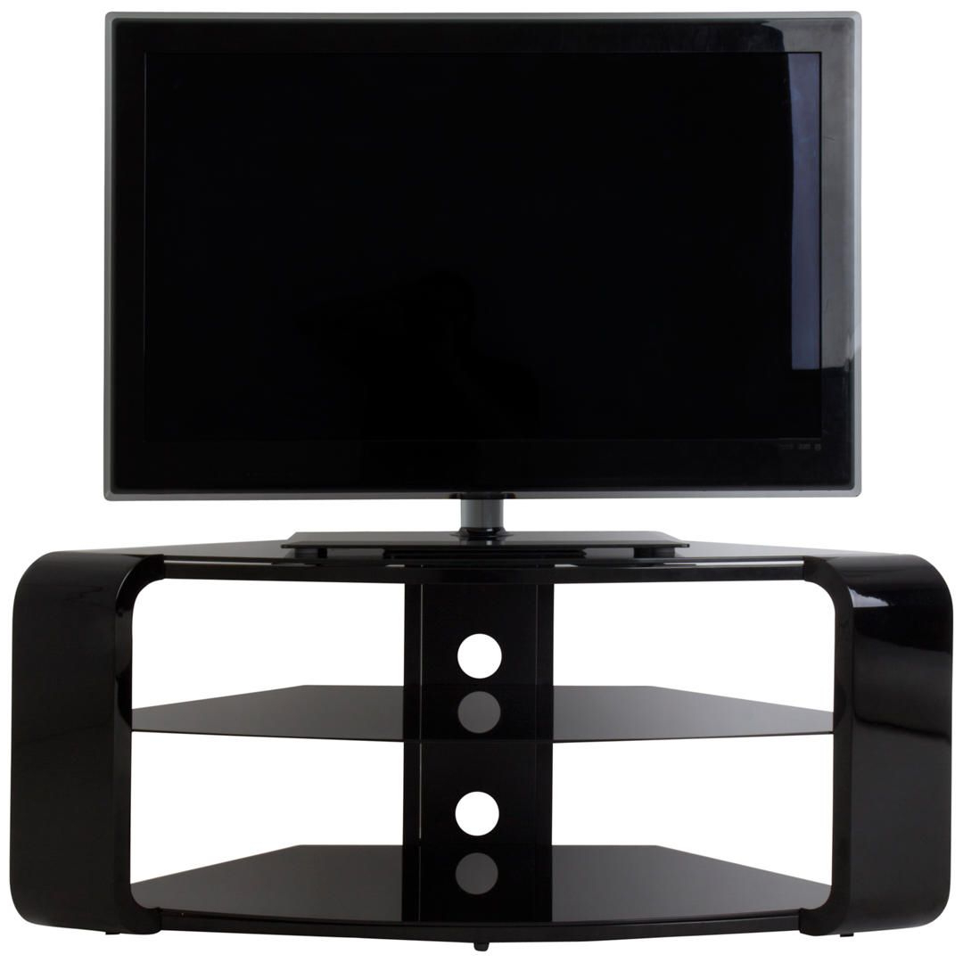 "Well Liked Como Tv Stands Throughout Avf Como Tv Stand For Tvs Up To 55"", Gloss Black In  (View 20 of 20)"