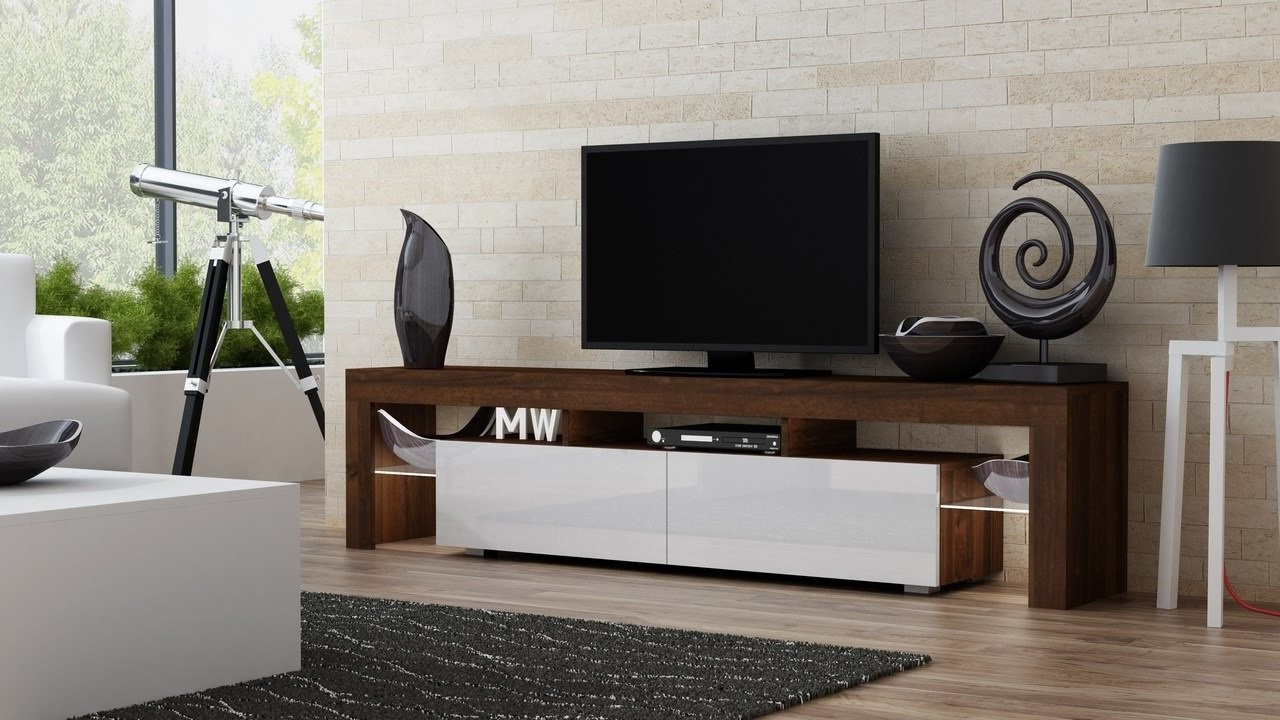Well Liked Contemporary Media Console Furniture Particle Board Construction With Regard To Clear Acrylic Tv Stands (View 19 of 20)