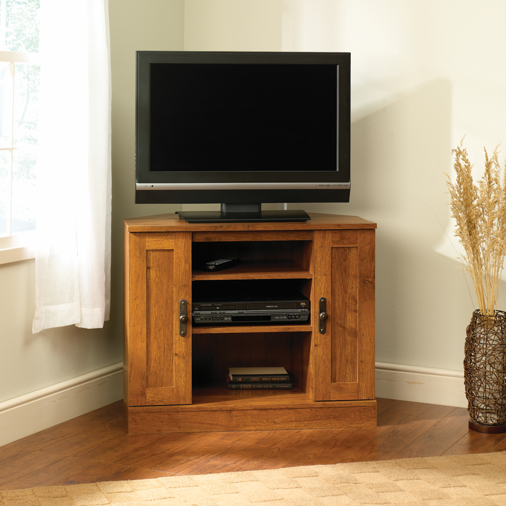 Well Liked Corner Tv Cabinets For Flat Screen Pertaining To Black Corner Tv Stands For Flat Screens — Paristriptips Design (View 19 of 20)