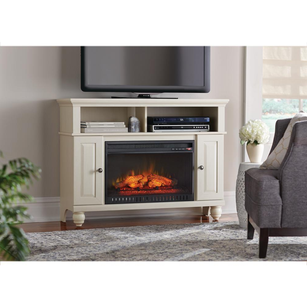 Well Liked Fireplace Tv Stands – Electric Fireplaces – The Home Depot Regarding Country Style Tv Cabinets (View 19 of 20)