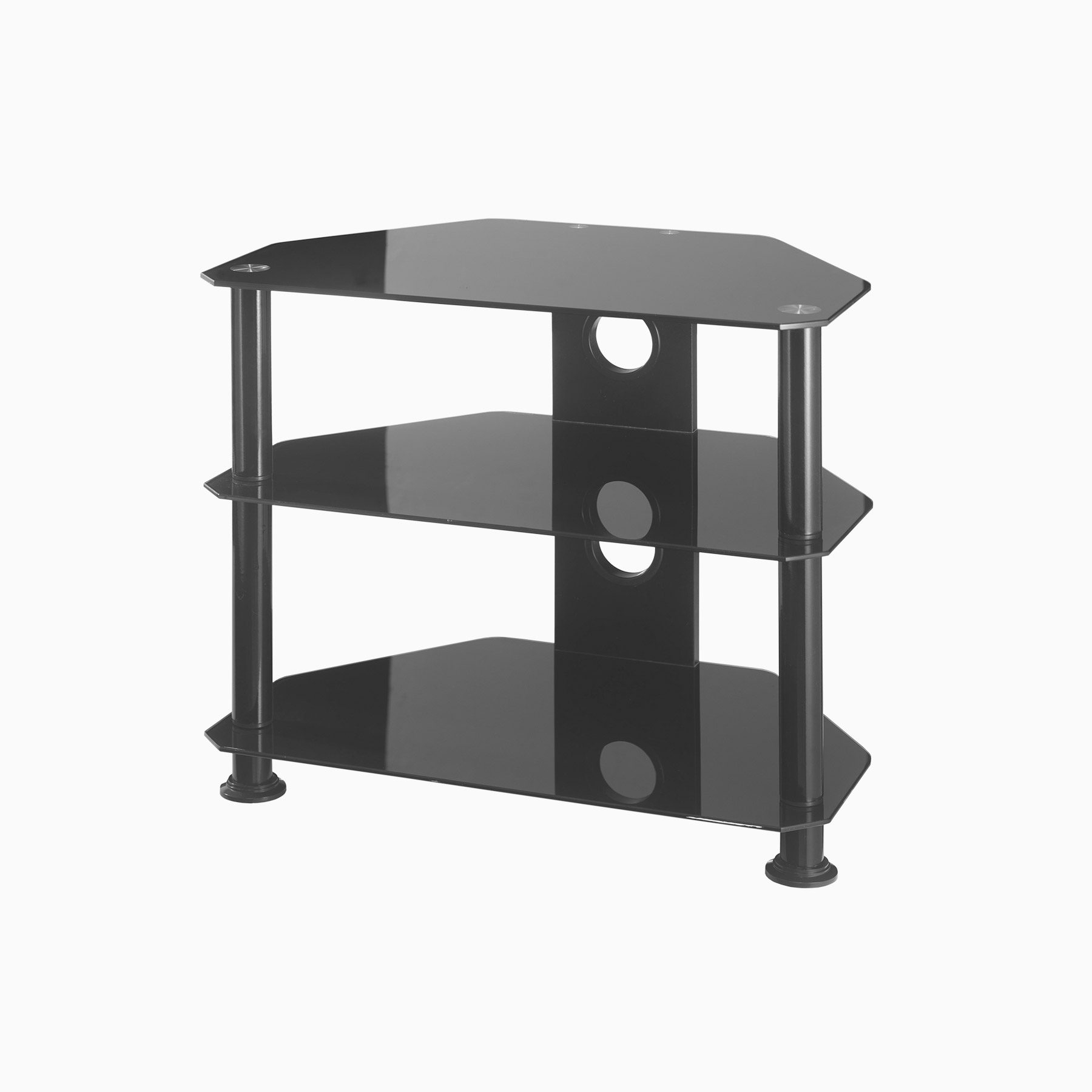 Well Liked Glass Tv Stands With Small Glass Corner Tv Stand Up To 26 Inch Tv (View 8 of 20)