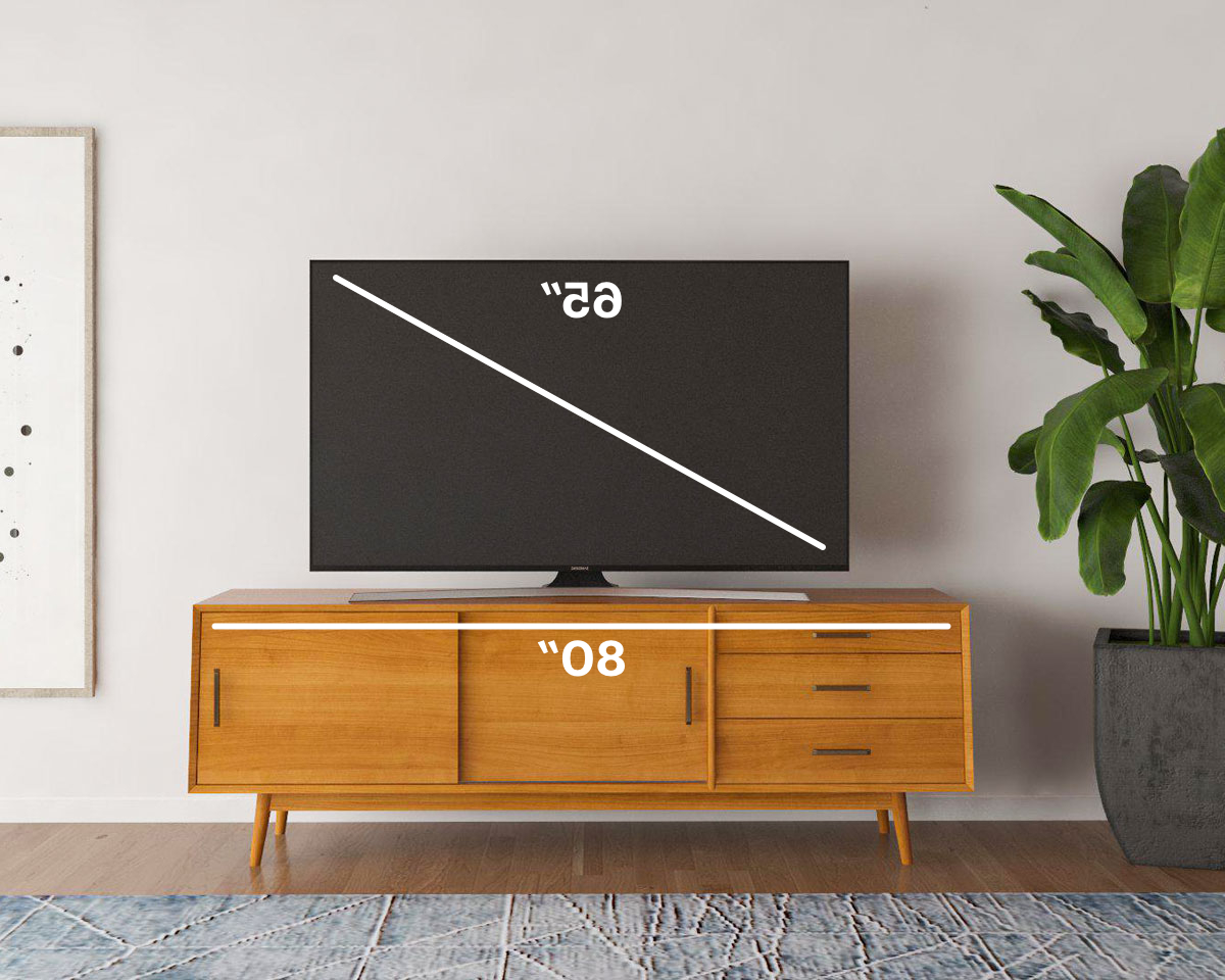 Well Liked How To Find The Best Tv Stand For Your Tv Size (View 19 of 20)