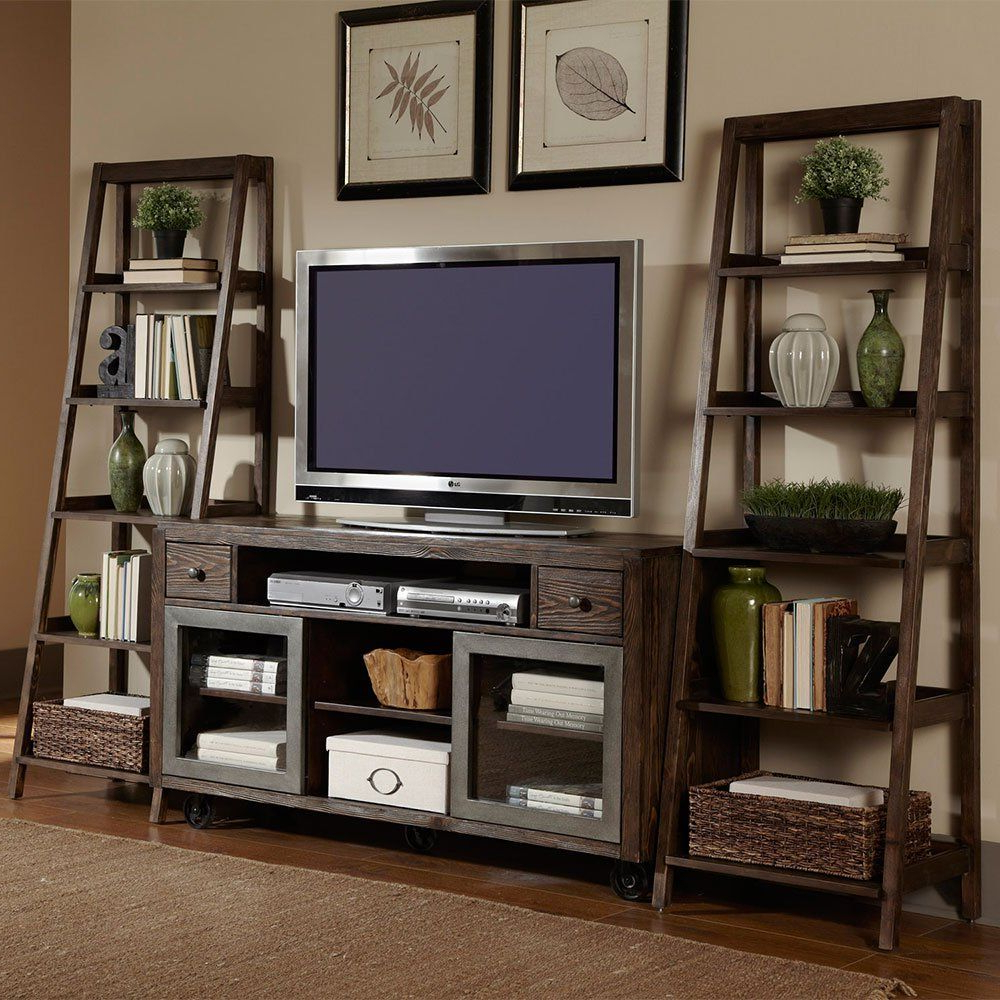 "Well Liked Kenzie 72 Inch Open Display Tv Stands Intended For Avignon Five Shelf Ladder Bookcase – 72""h (View 19 of 20)"