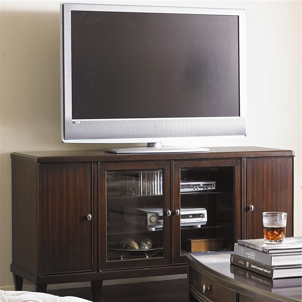 Well Liked Lauderdale 62 Inch Tv Stands Pertaining To Westwood Contemporary Entertainment Console Base With Doors (View 18 of 20)
