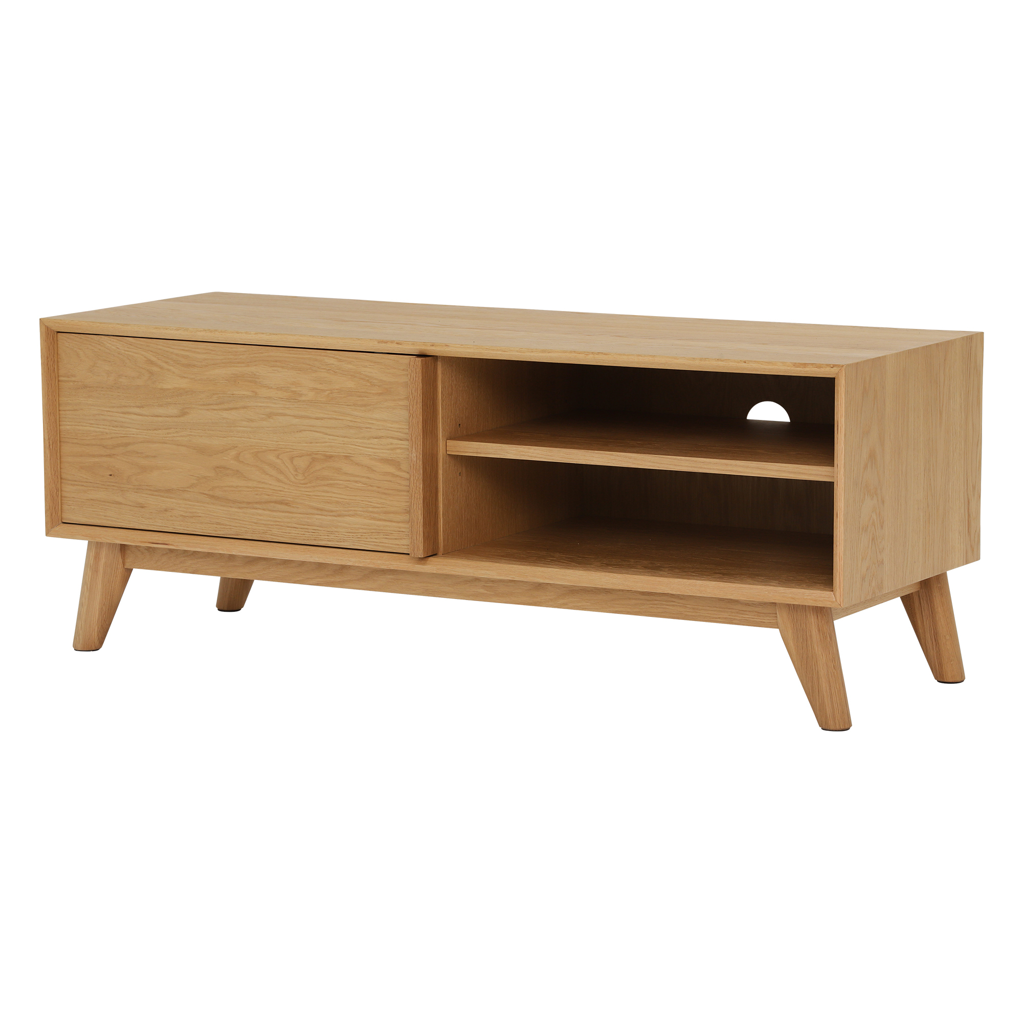 Well Liked Oak Tv Cabinets With Doors Pertaining To Lund 1 Door Oak Tv Cabinet (View 20 of 20)