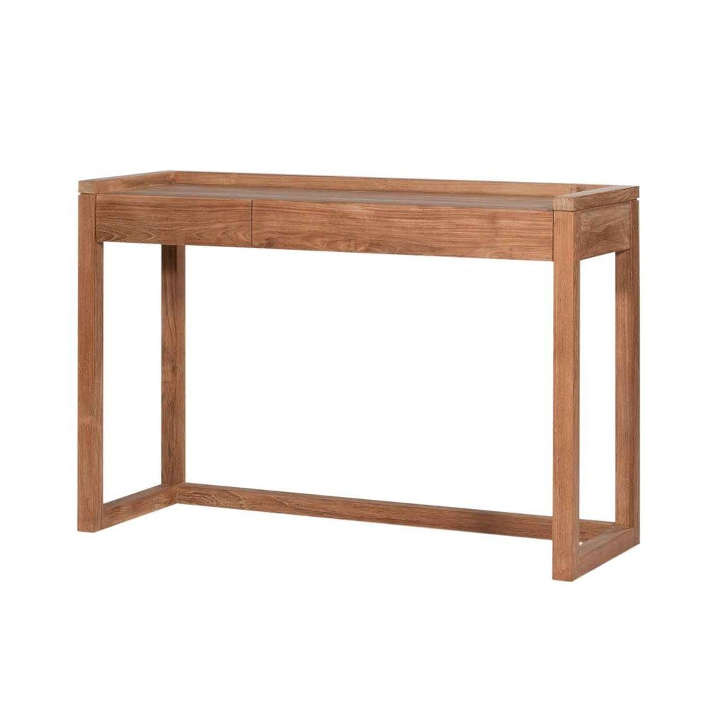 Well Liked Parsons White Marble Top & Elm Base 48x16 Console Tables Throughout Frame Pc Console – Teak (View 9 of 20)