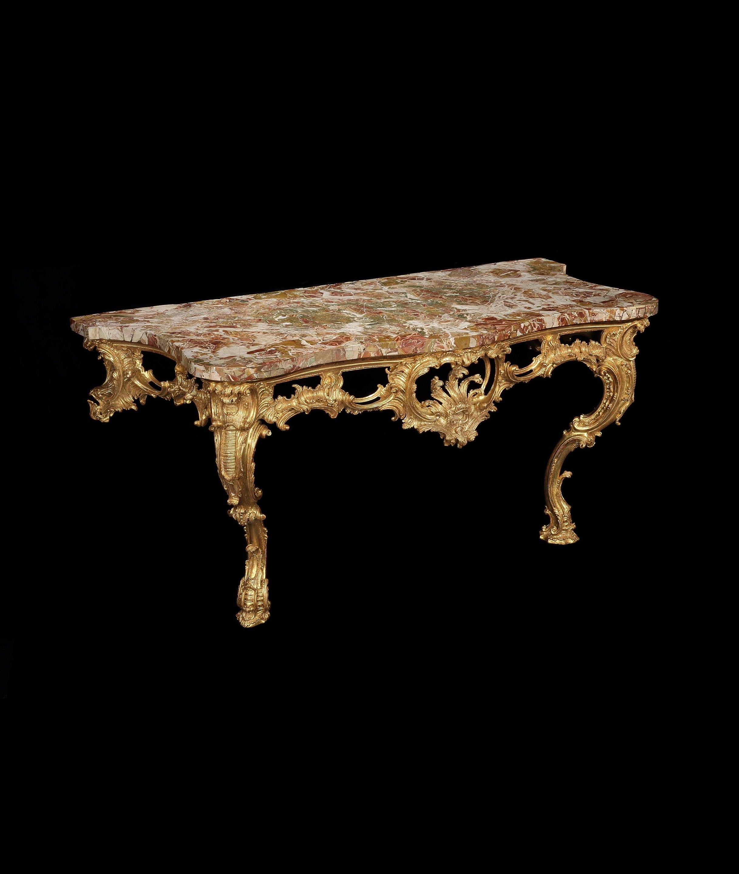 Well Liked Phillip Brass Console Tables Within A Large George Ii Giltwood Console Table Attributed To Matthias Lock (View 12 of 20)