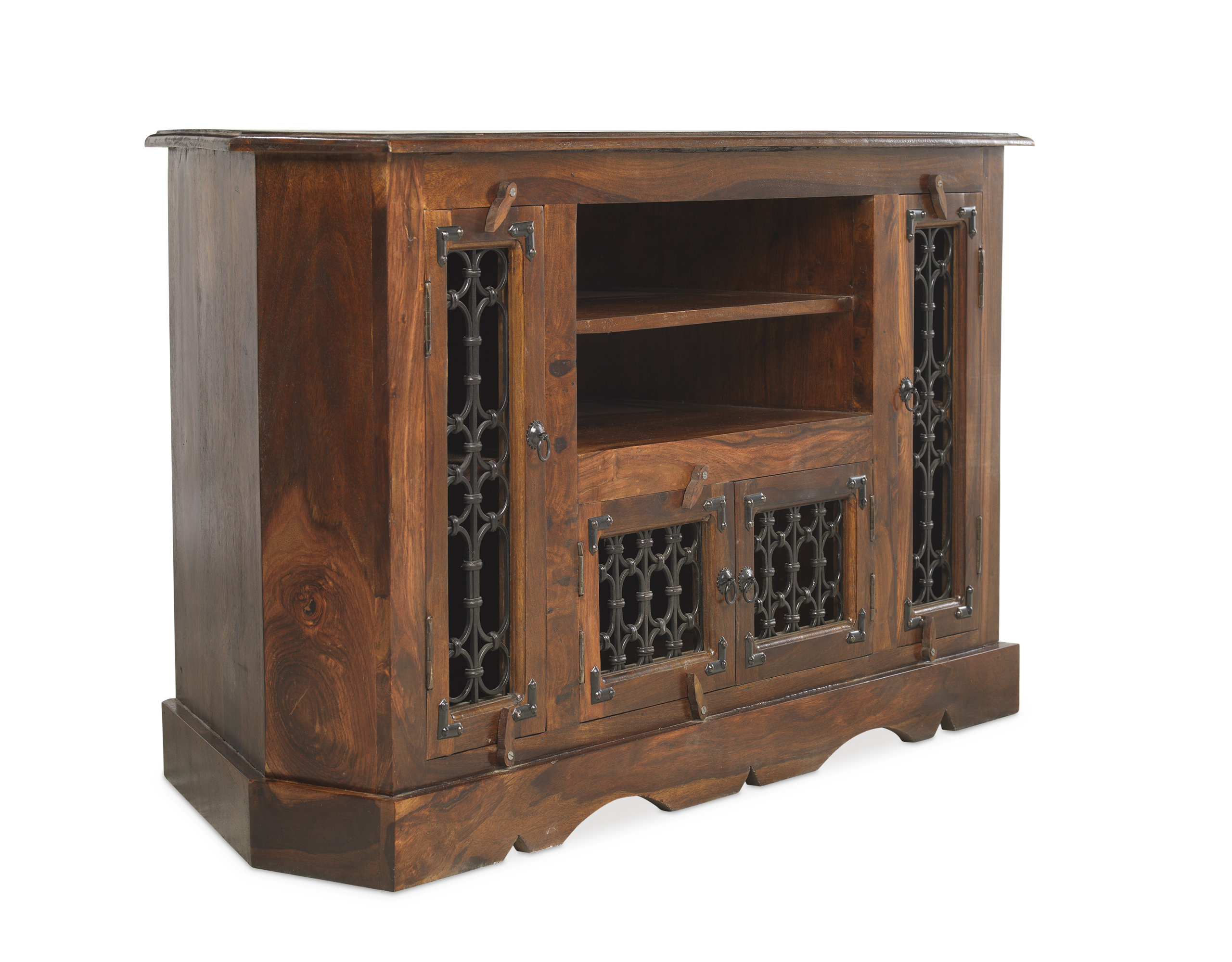 """Well Liked Prestington Jali Indian Tv Stand For Tvs Up To 43"""" & Reviews With Jali Tv Cabinets (View 20 of 20)"""