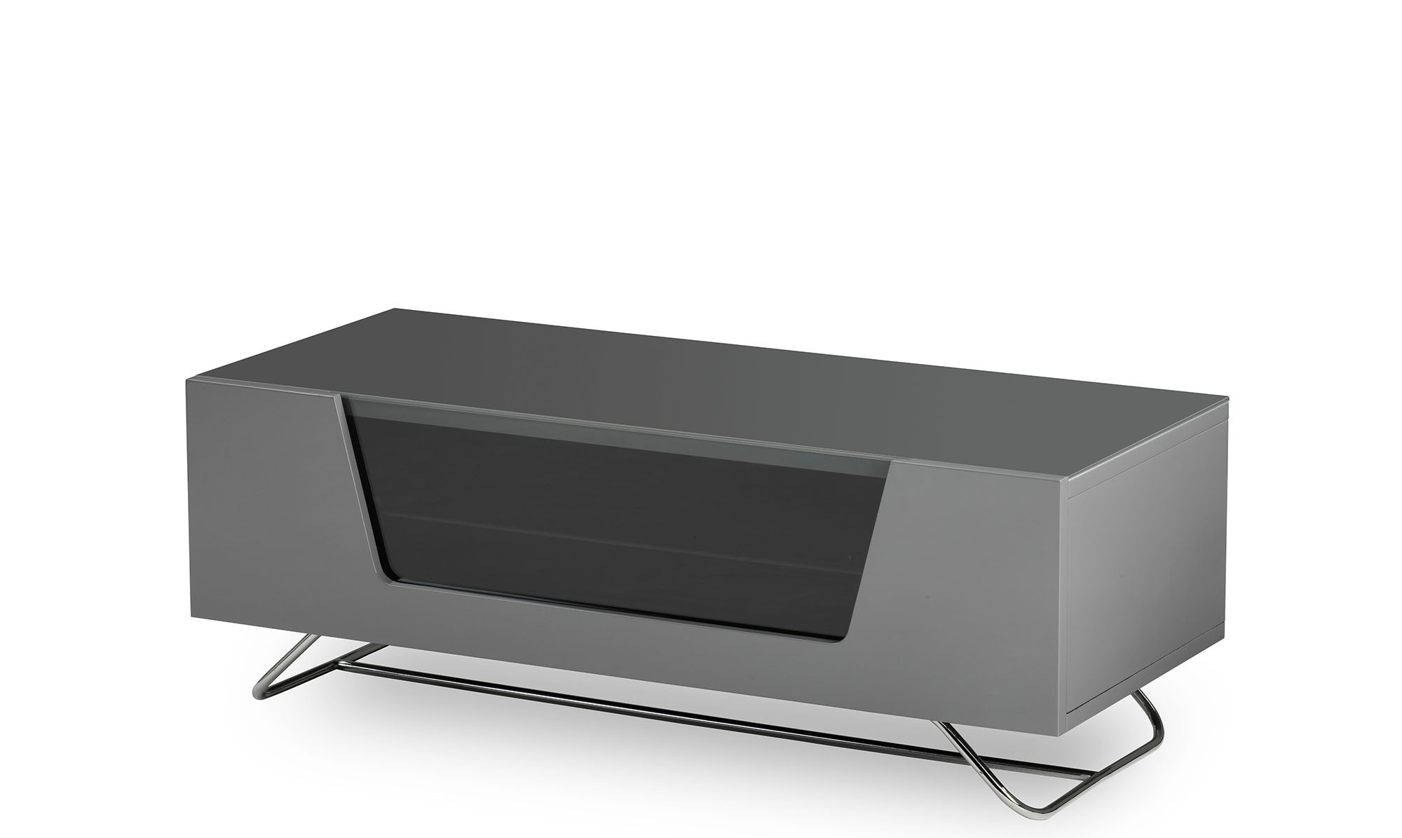 Well Liked Red Gloss Tv Cabinets With Regard To Omega – Grey High Gloss Tv Unit – Fishpools (View 19 of 20)