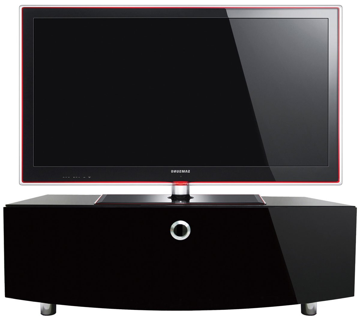 Well Liked Shiny Black Tv Stands Intended For Mda Designs Curve 1000 Tv Stand – Black (View 10 of 20)