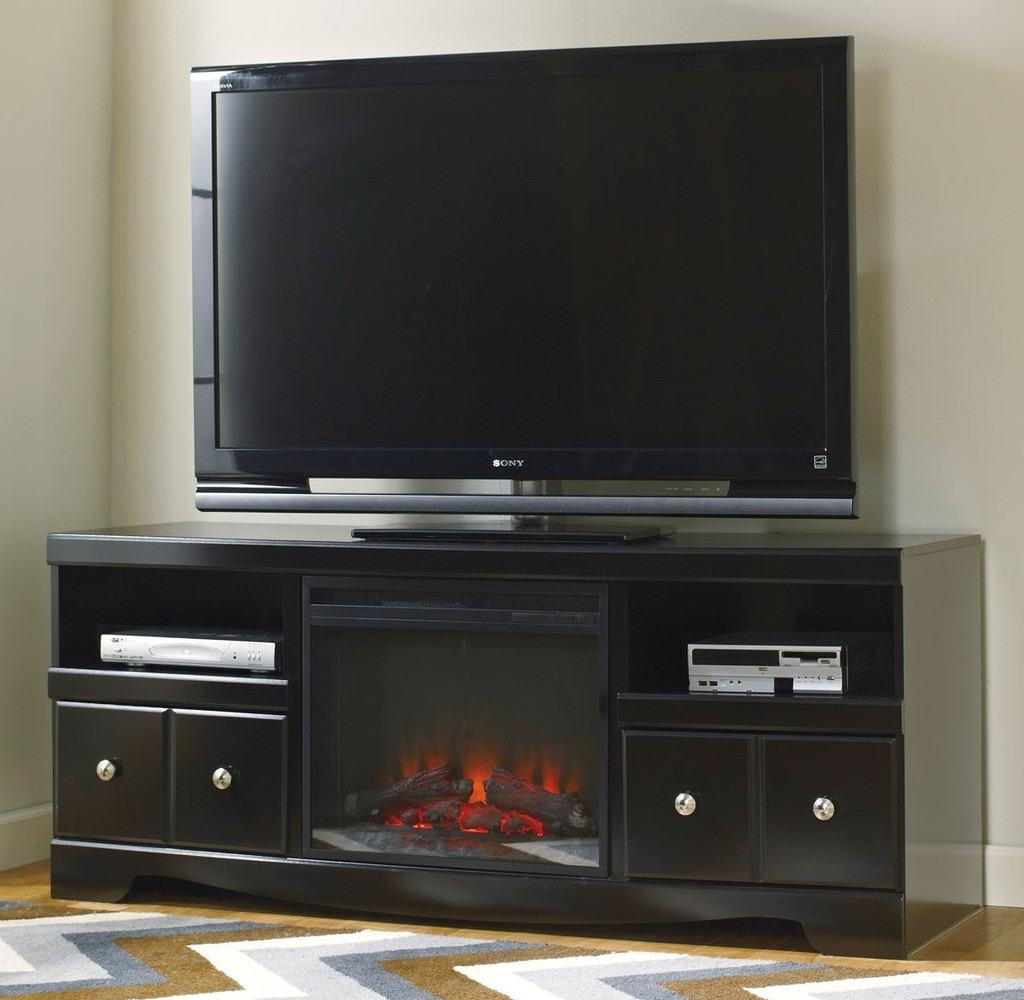 Well Liked Simple Furniture Mesmerizing Black Tv Stand With Fireplace For Black Regarding Annabelle Black 70 Inch Tv Stands (View 20 of 20)