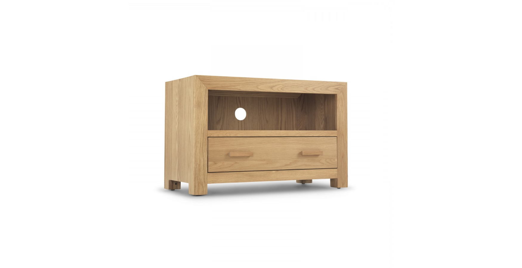 Well Liked Small Oak Tv Cabinets In Cube Oak Small Tv Unit – Lifestyle Furniture Uk (View 20 of 20)