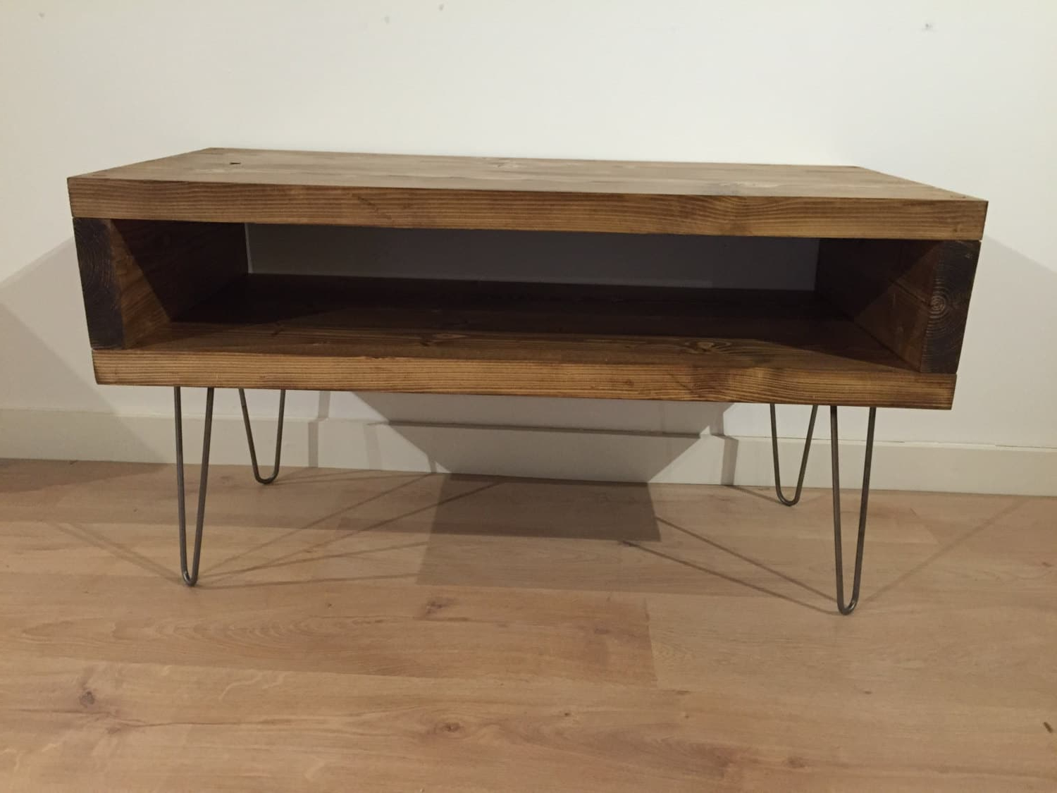 Well Liked Solid Pine Box Tv Stand With Hairpin Legs – Newco Interiors Within Pine Tv Stands (View 20 of 20)