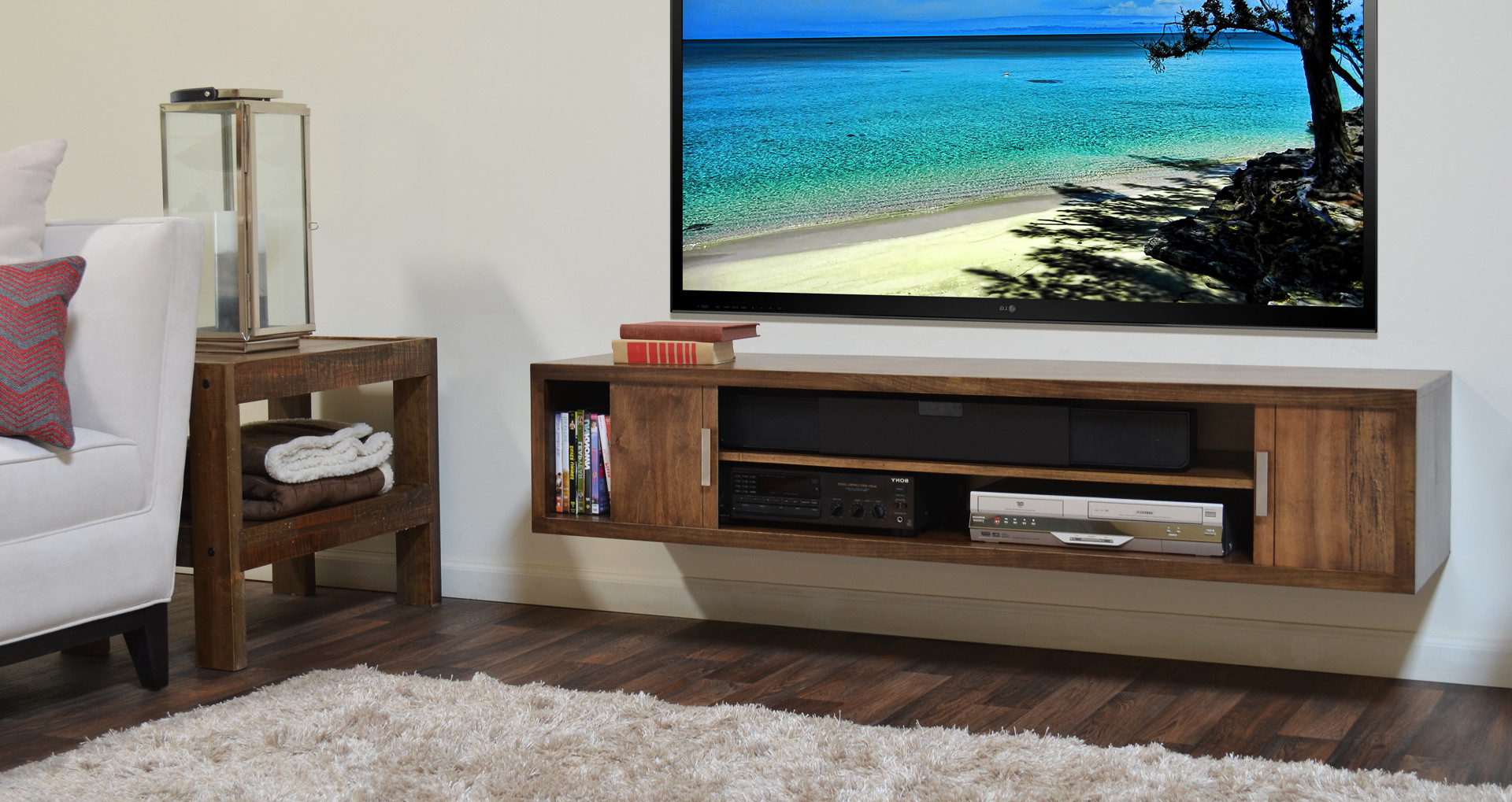 Well Liked Wall Mounted Tv Racks Within Attractive Wall Mount Tv Stand (Gallery 13 of 20)