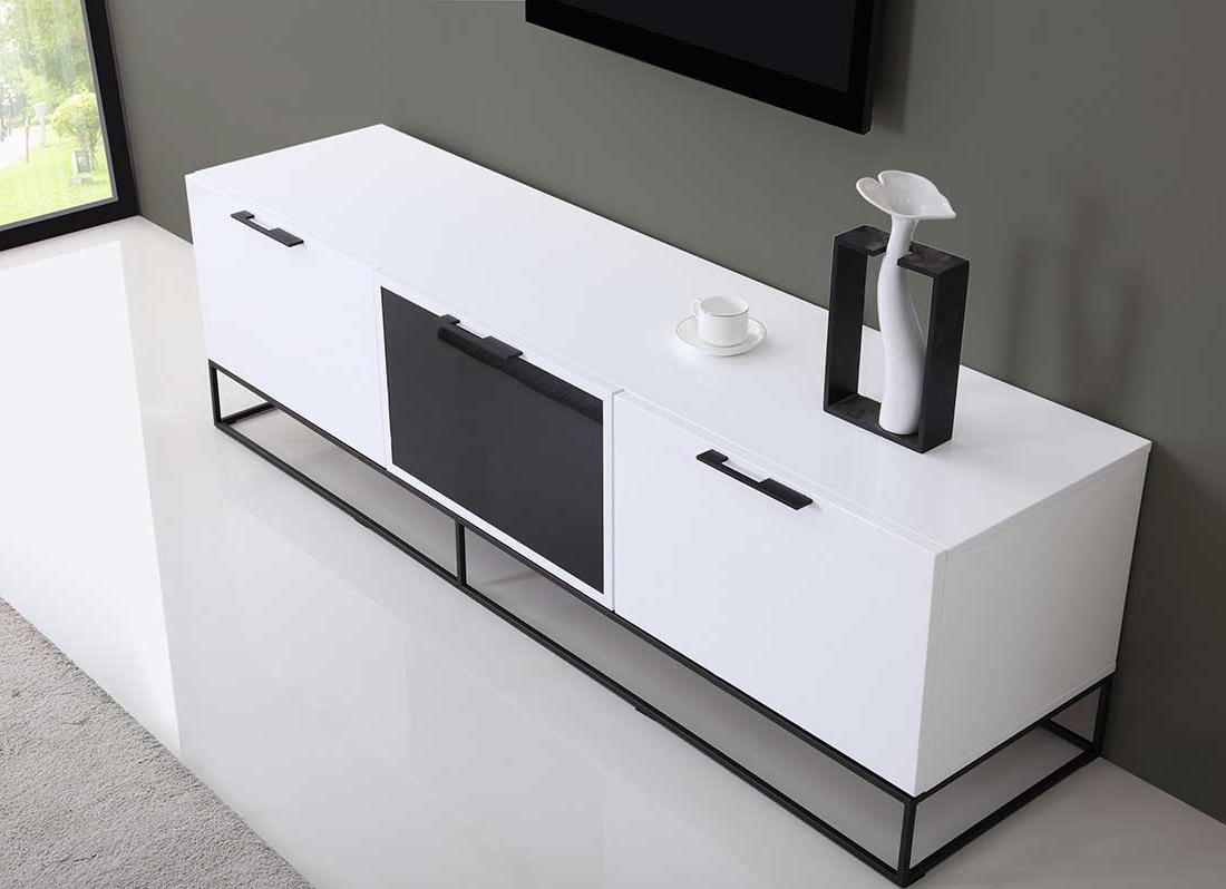 Well Liked White And Black Tv Stands With Regard To Modern White Black Tv Stand Bm (View 19 of 20)