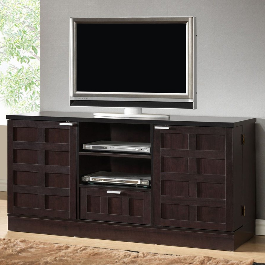 Wenge Tv Cabinets For 2017 Baxton Studio Tosato Wenge Rectangular Tv Cabinet At Lowes (View 13 of 20)