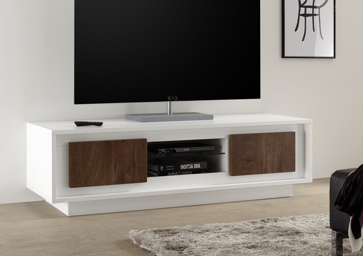 White & Black Gloss Tv Units, Stands And Cabinets (41) – Sena Home With Most Current White Modern Tv Stands (View 17 of 20)