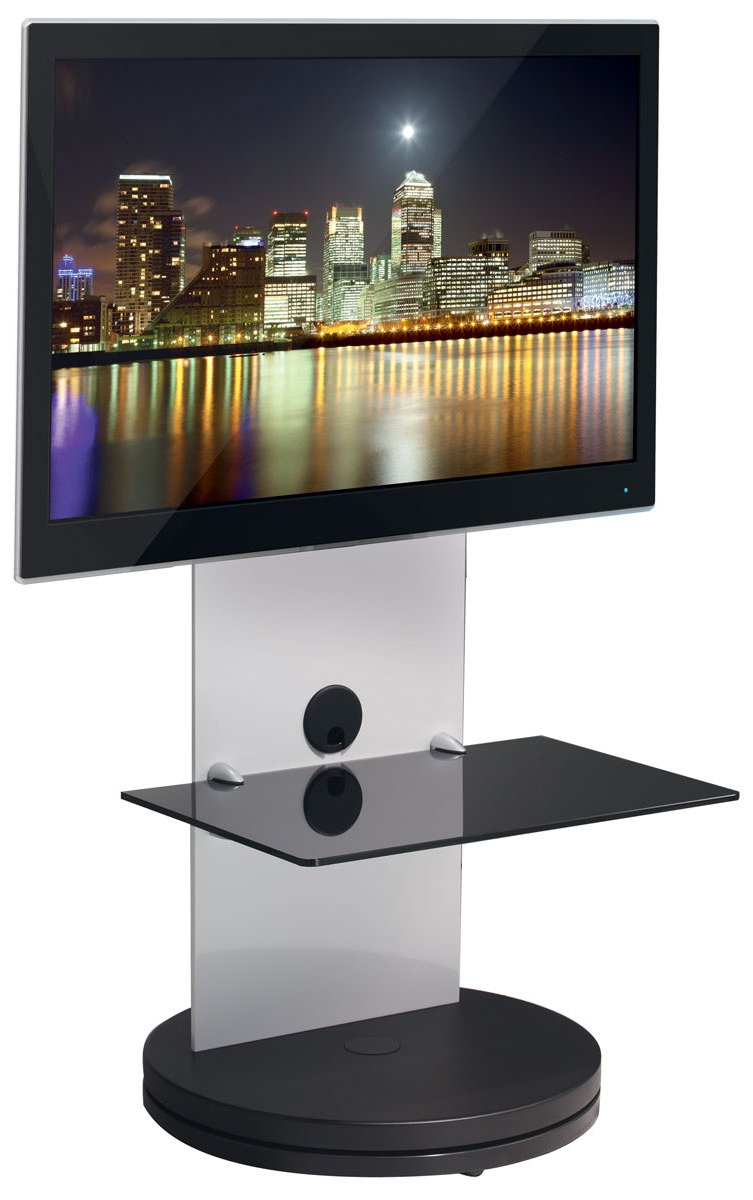 White Cantilever Tv Stands For Popular B Tech Btf810 High Gloss White Corner Cantilever Tv Stand (View 15 of 20)
