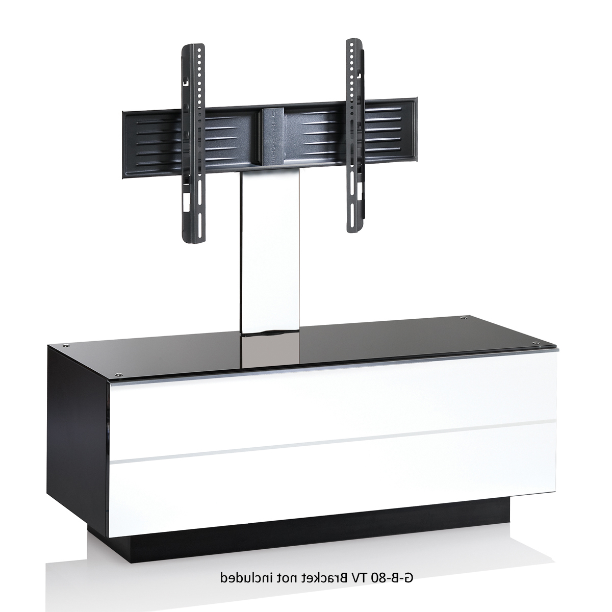 White Cantilever Tv Stands Inside Recent White G S 110 Wh Tv Stand 110Cms (Gallery 5 of 20)