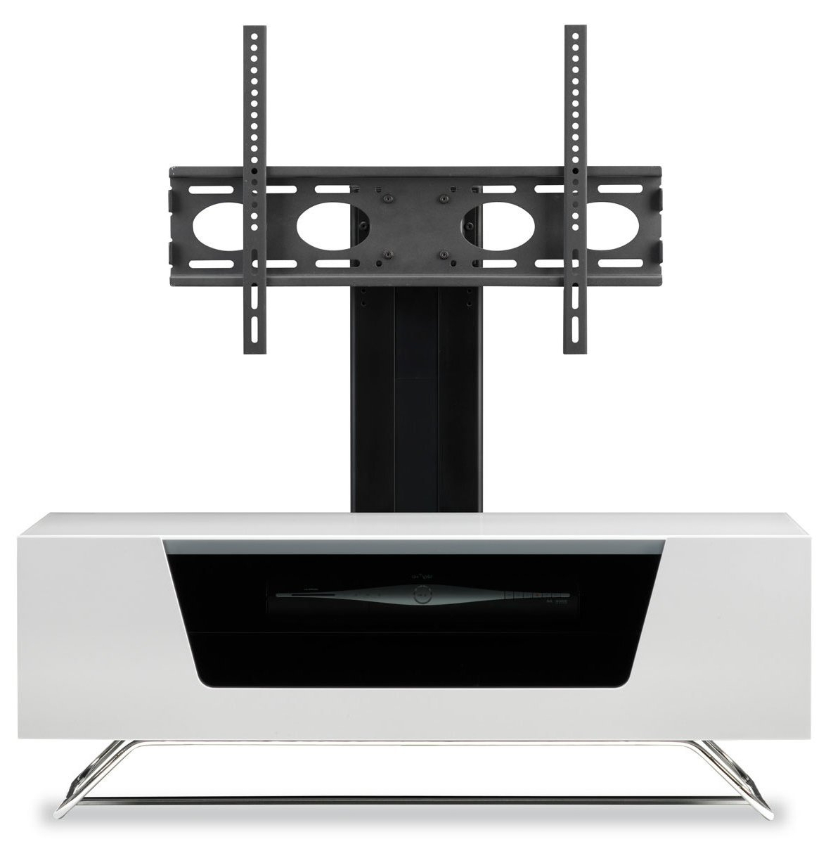 White Cantilever Tv Stands Regarding Well Known Alphason Chromium White Cantilever Tv Stand (Gallery 1 of 20)