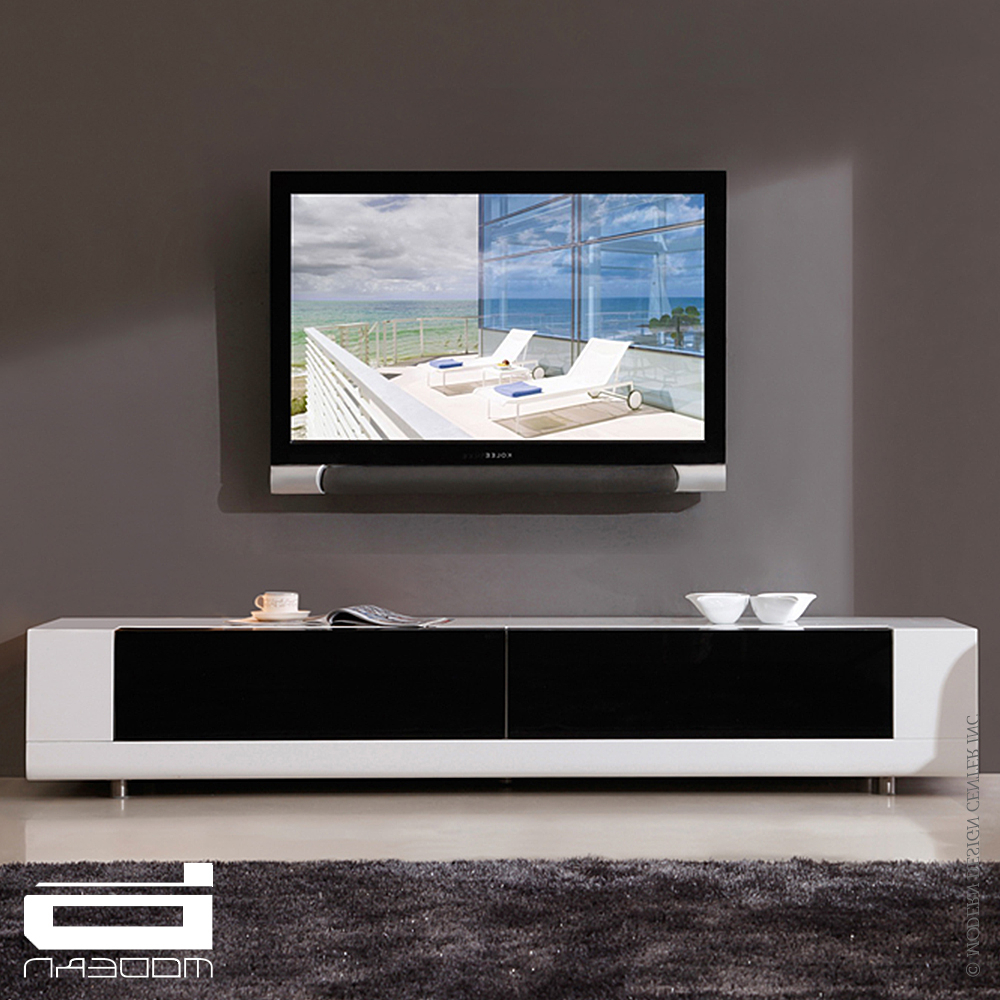 White Contemporary Tv Stands In Newest B Modern Editor & Tv Stands, White (View 16 of 20)