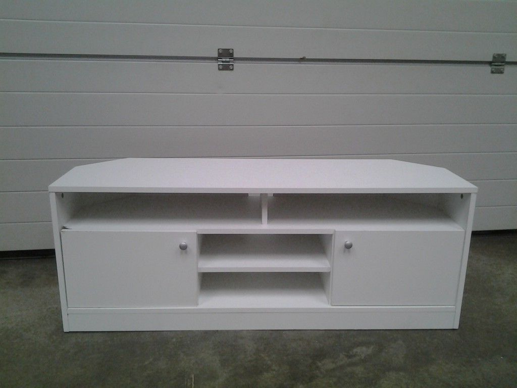White Corner Tv Cabinets Throughout Most Popular Ex Display White Corner Tv Unit / Tv Cabinet (View 18 of 20)