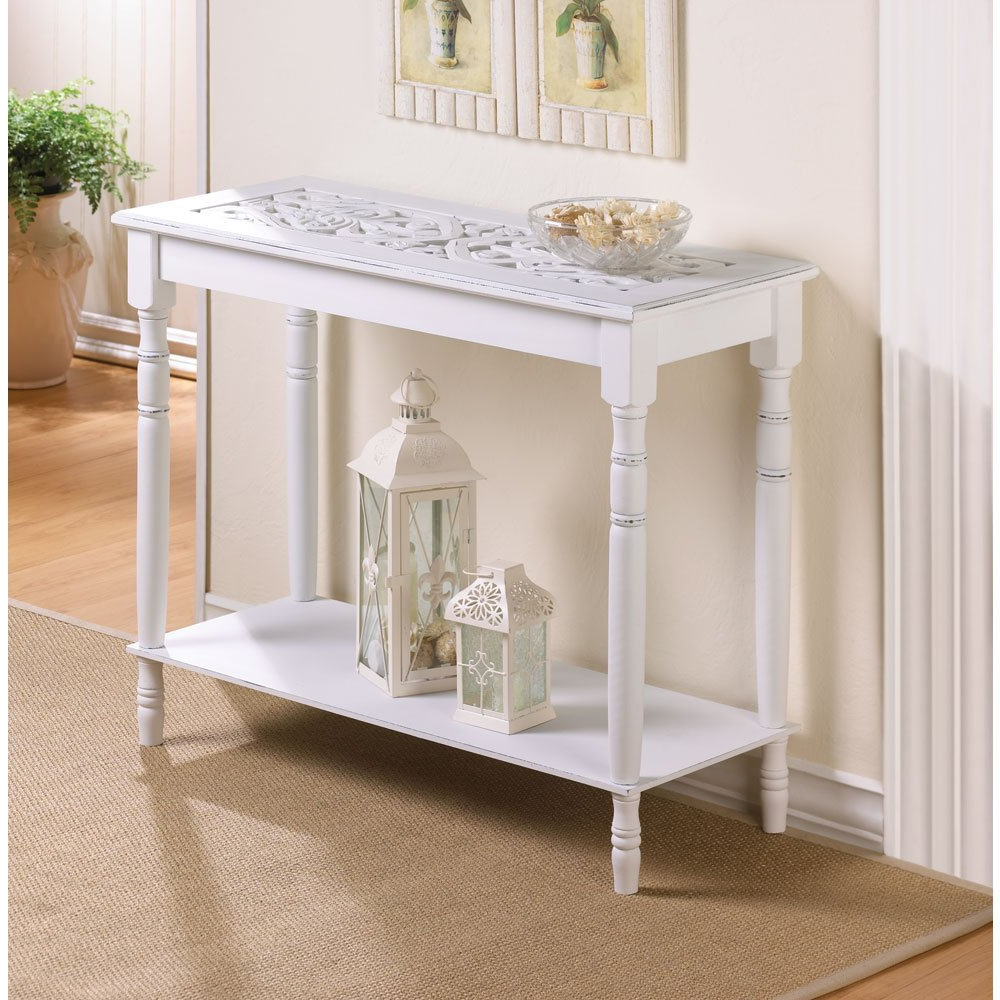 White Distressed Console Table : Console Table – Classic Yet Elegant Inside Popular Antique White Distressed Console Tables (View 19 of 20)