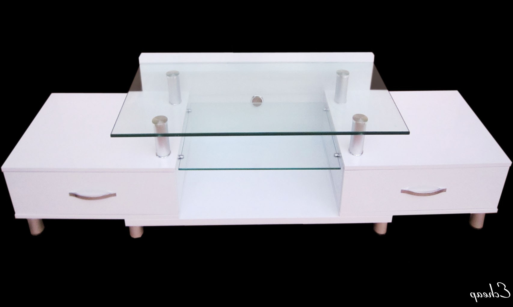 White Glass Tv Stands In Preferred White Lcd Tv Unit With Glass Stand (View 15 of 20)
