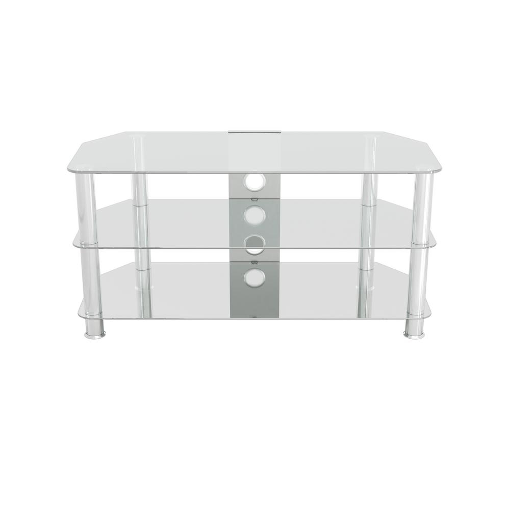 White Glass Tv Stands Intended For Well Known Avf Glass Tv Stand With Cable Management For Tvs Up To 50 In (View 18 of 20)
