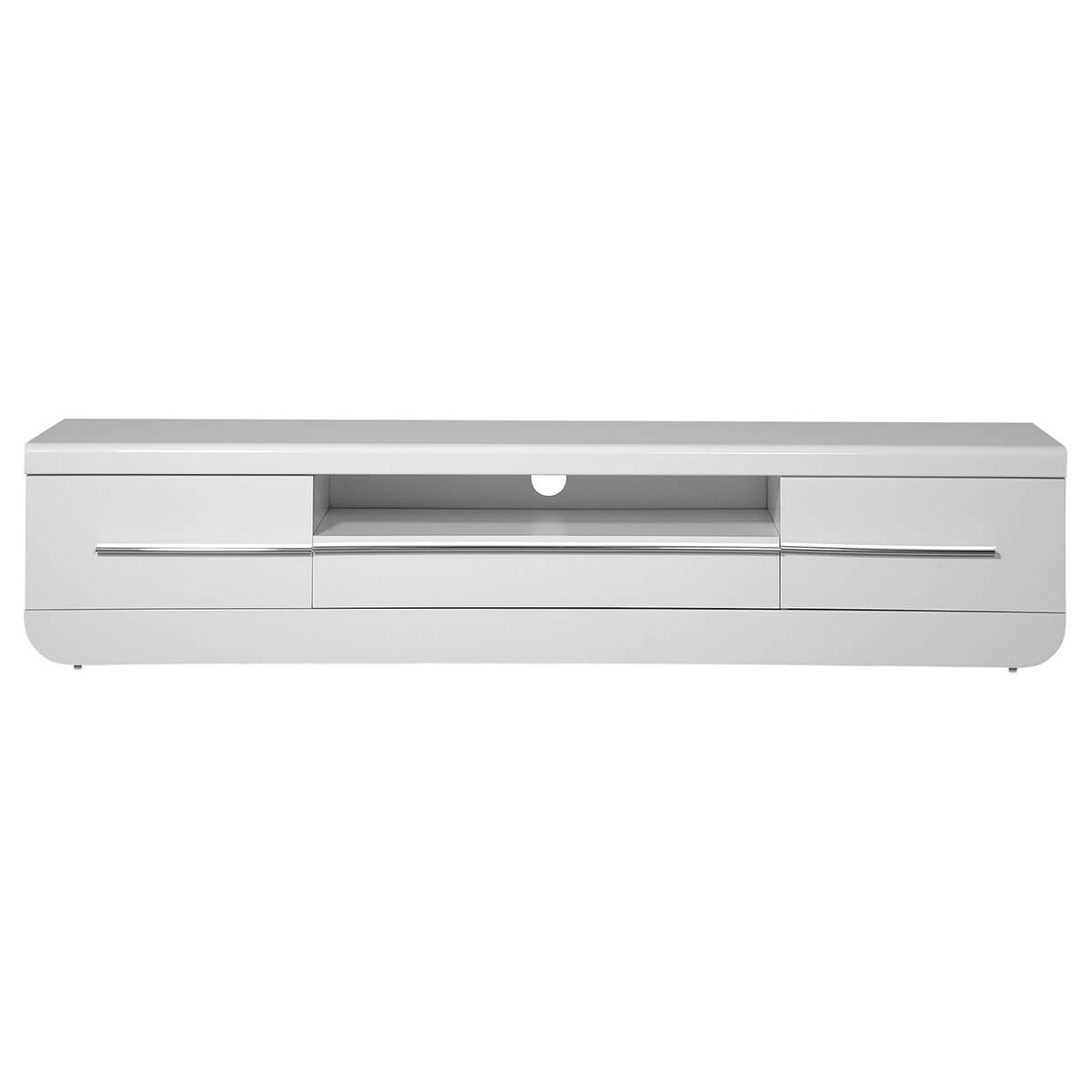 White Gloss Tv Cabinets Regarding Best And Newest Floyd White High Gloss Tv Unit (View 11 of 20)
