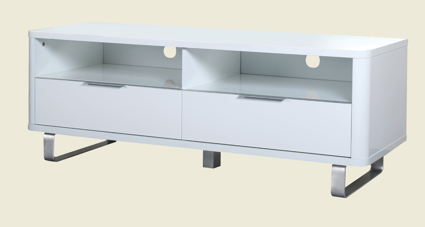 White High Gloss Tv Stands Pertaining To Widely Used Accent Tv Unit White (View 17 of 20)