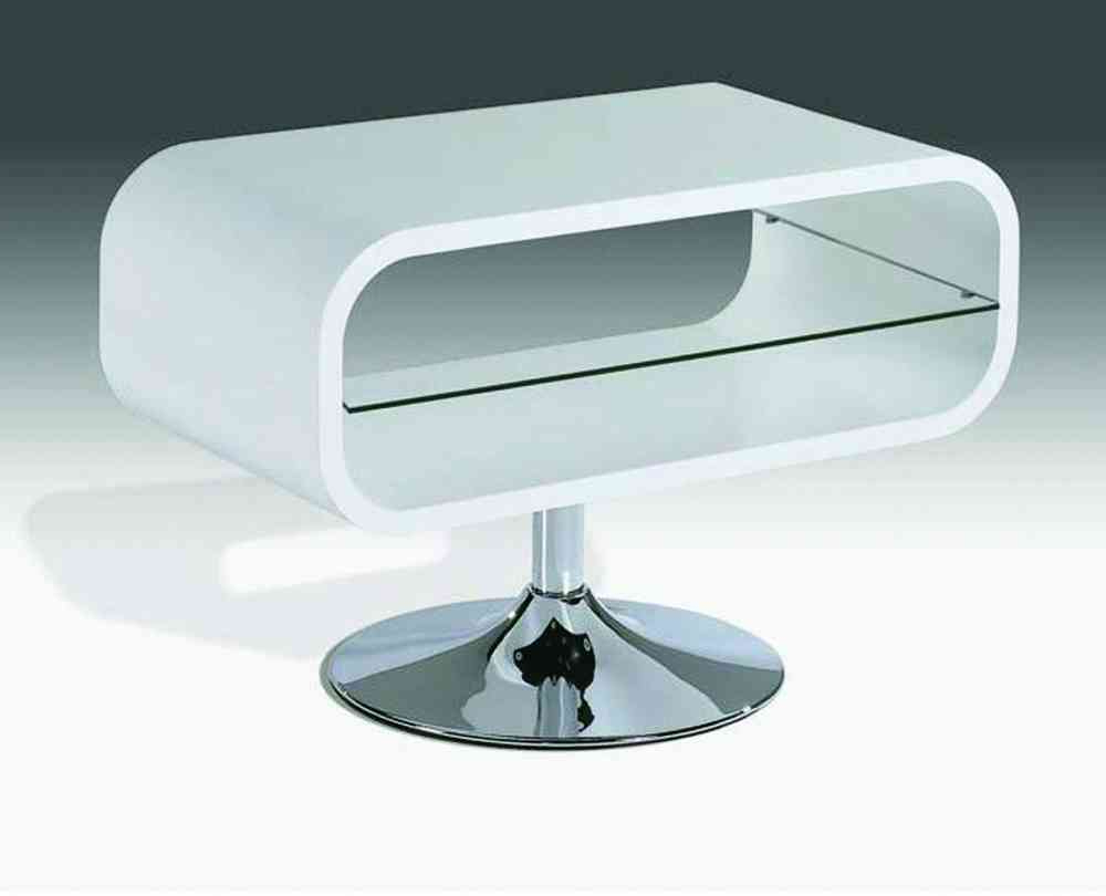 White High Gloss Tv Unit Stand With Glass Shelf – Homegenies Pertaining To Well Liked White High Gloss Tv Stands (View 4 of 20)