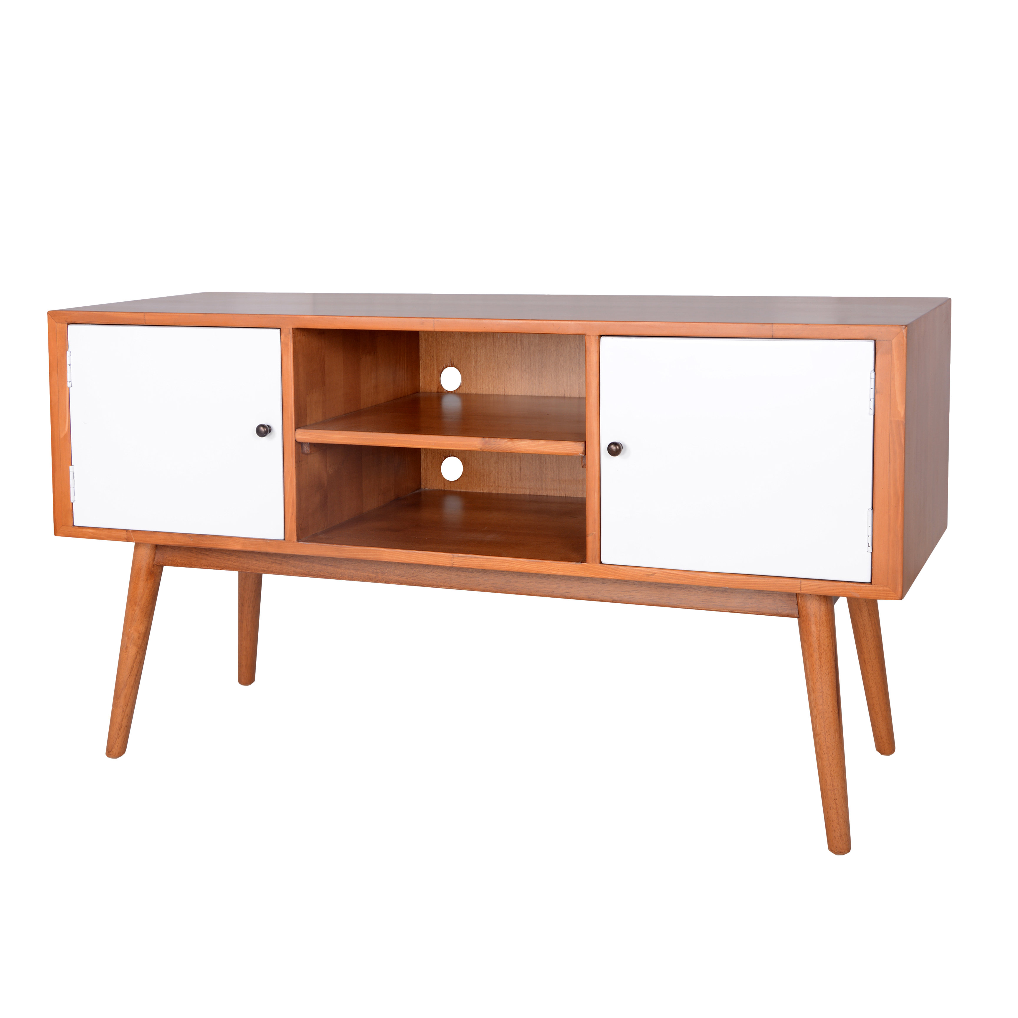 White Lacquer Media Console (View 20 of 20)