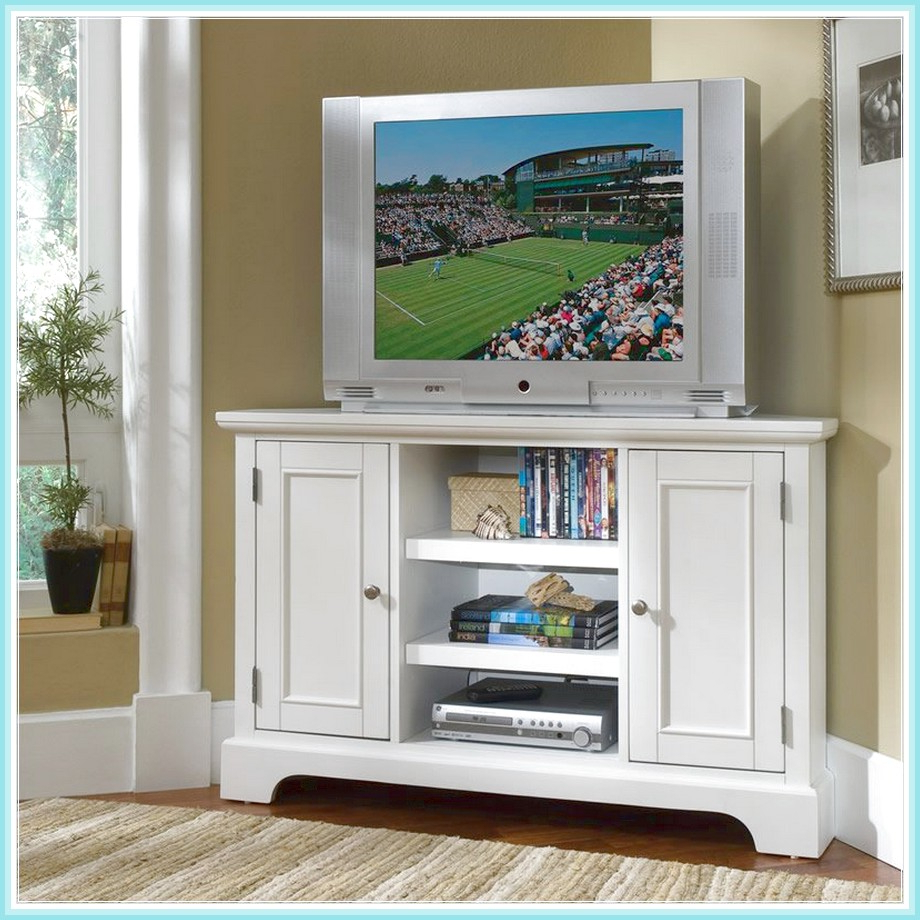 White Painted Tv Cabinets In 2018 Tall Corner Tv Stand: Designs And Images (View 13 of 20)
