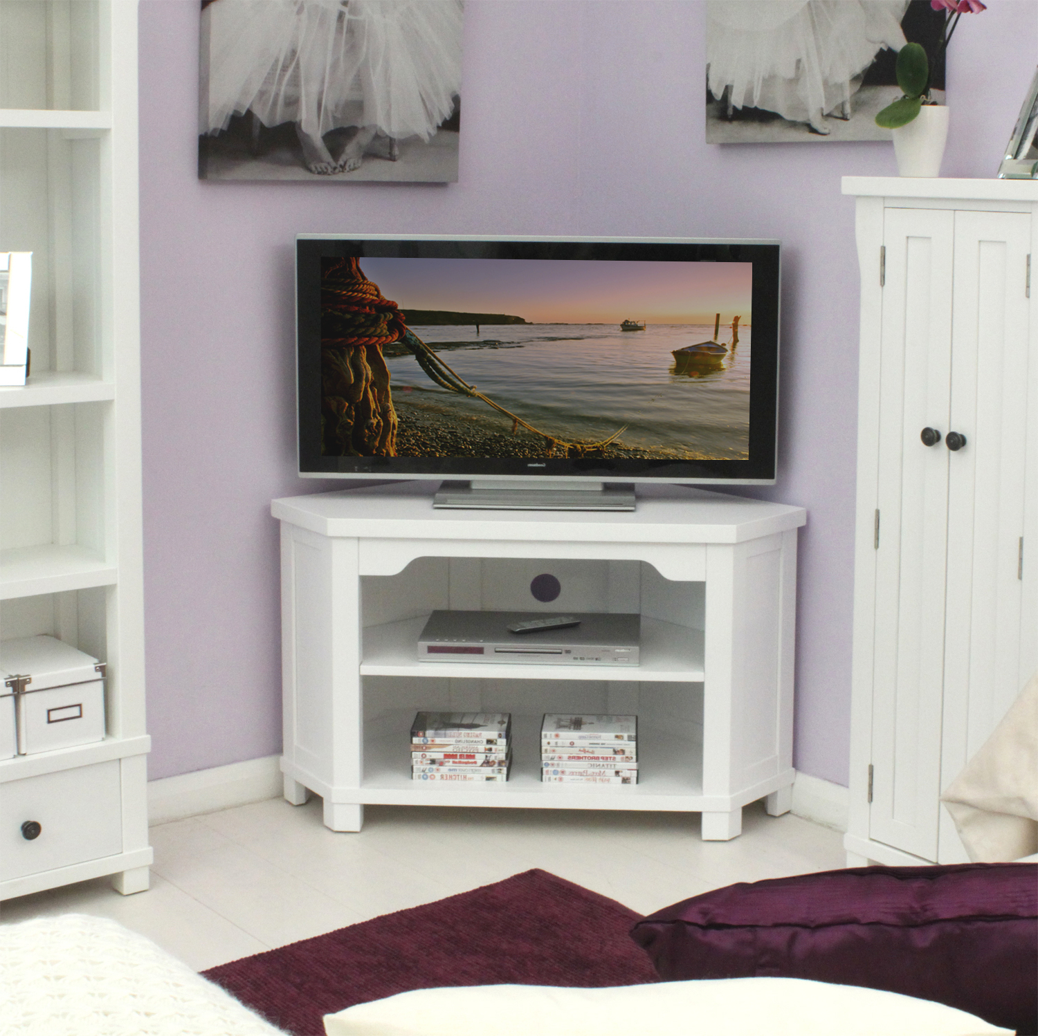 White Small Corner Tv Stands With Regard To 2018 Fascinating White Small Corner Tv Stand Tall Wood Cabinet Black Inch (View 20 of 20)