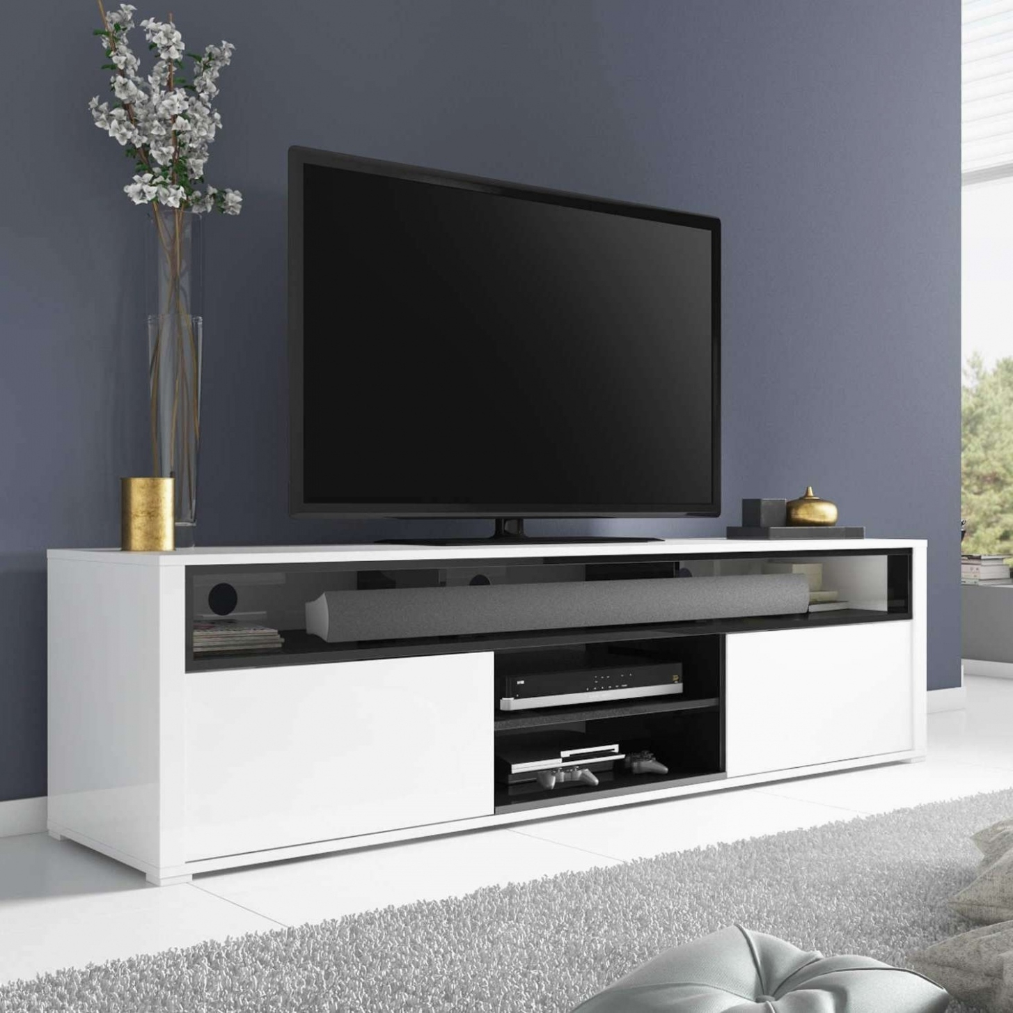 White Tv Cabinets With Preferred White Tv Stand With Drawers Simplistic 20 The Best Tv Cabinets Gloss (View 20 of 20)