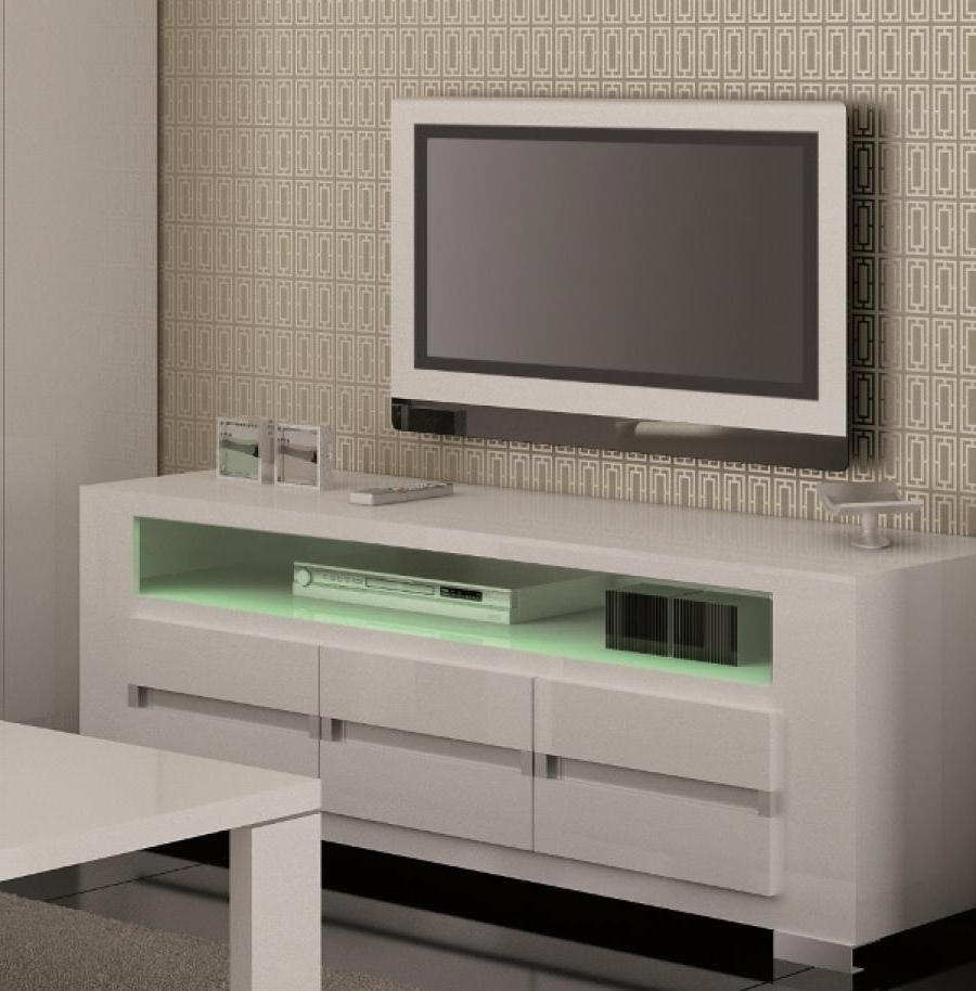 White Tv Stands For Flat Screens Throughout Most Recent High Gloss Corner Media Stand Wide Storage Flat Screen Bdi 8224 Bl (View 19 of 20)