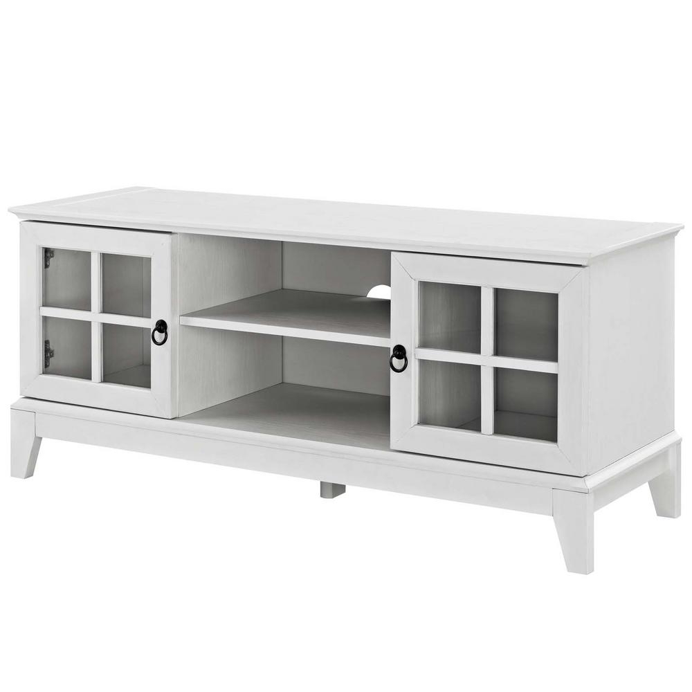 White Tv Stands Inside Newest Modway Isle 47 In (View 15 of 20)